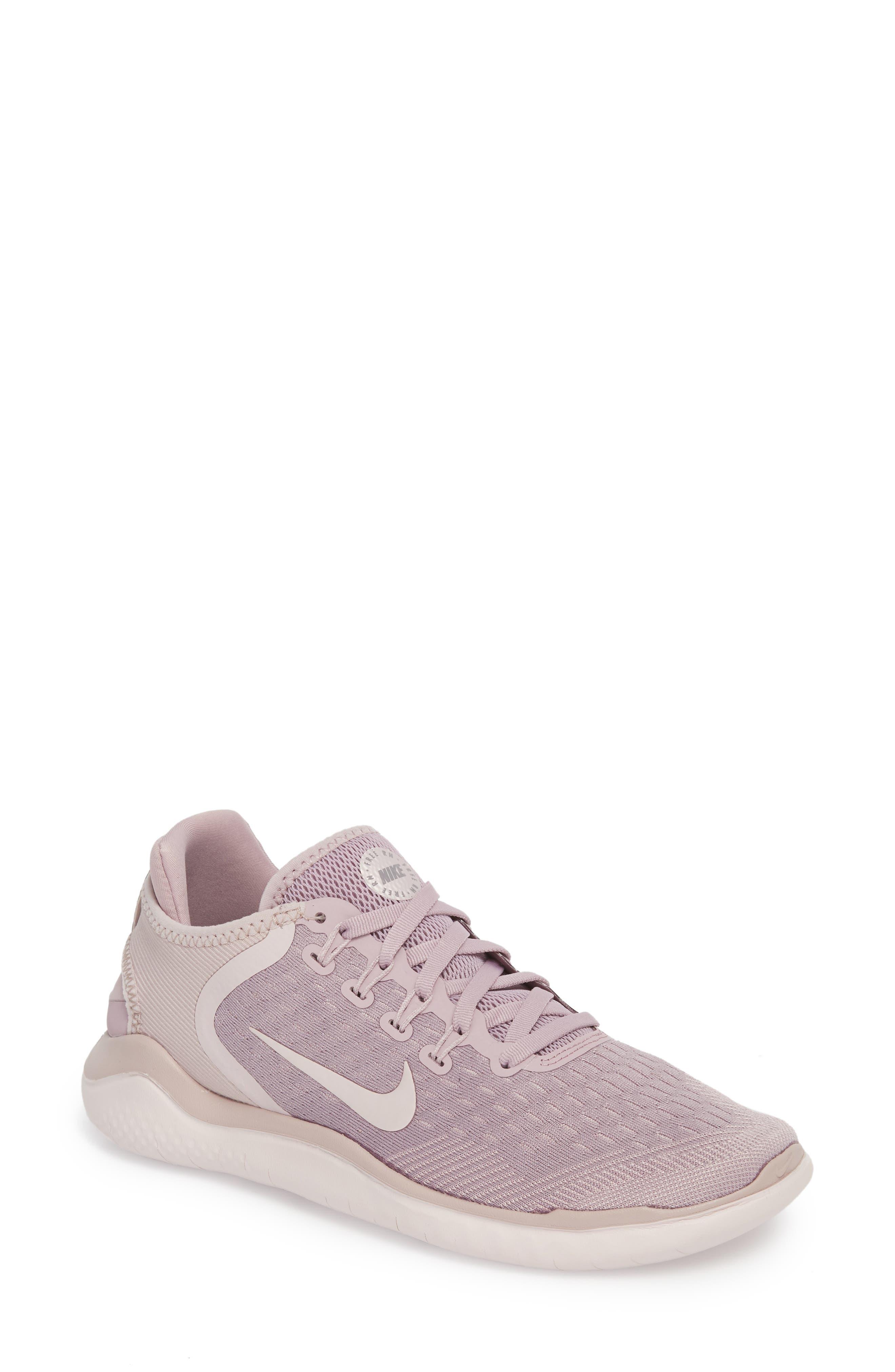 Free RN 2018 Running Shoe, Main, color, Elemental Rose/ Gunsmoke