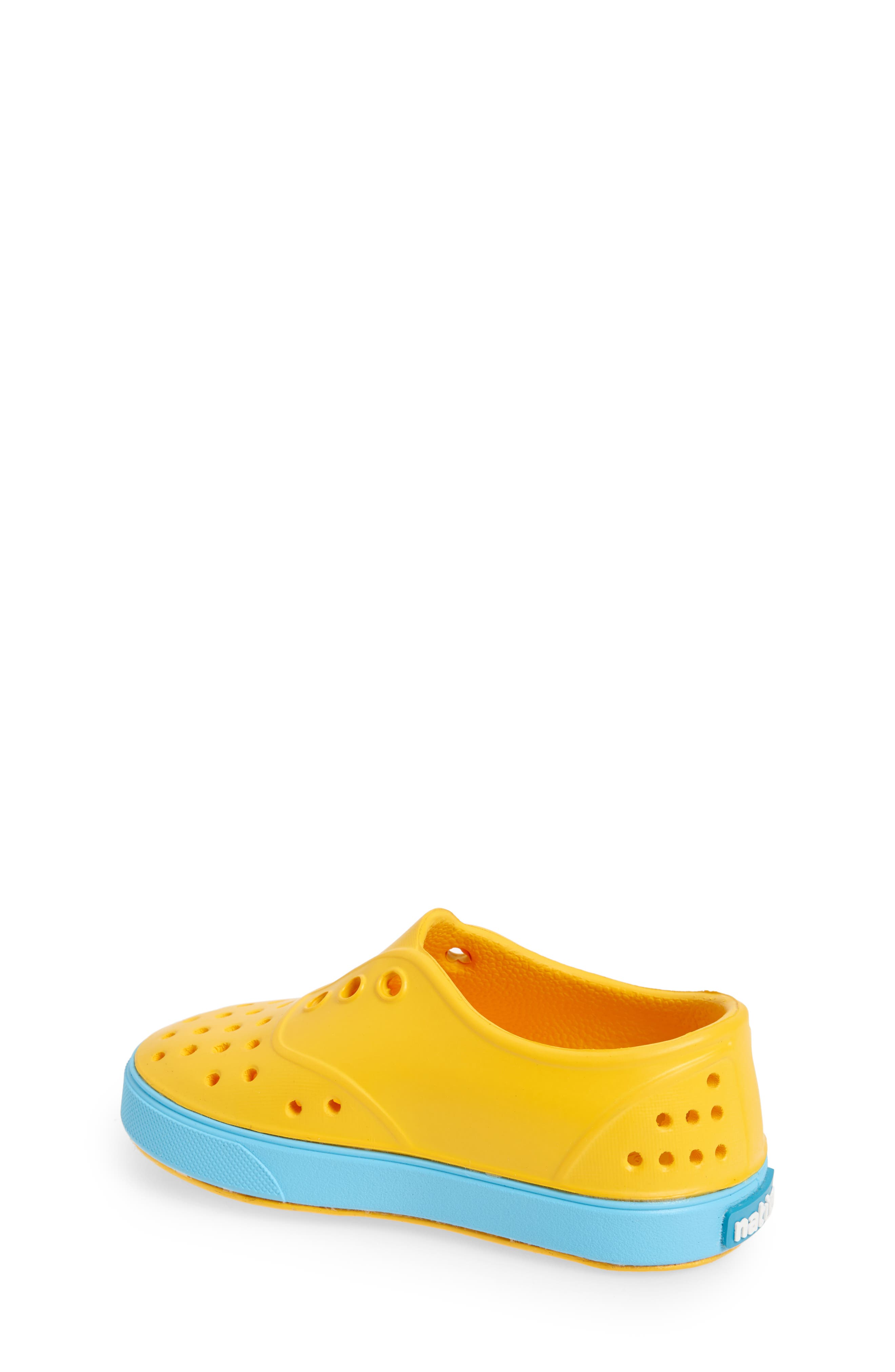Miller Water Friendly Slip-On Sneaker,                             Alternate thumbnail 2, color,                             Yellow/ Surfer Blue