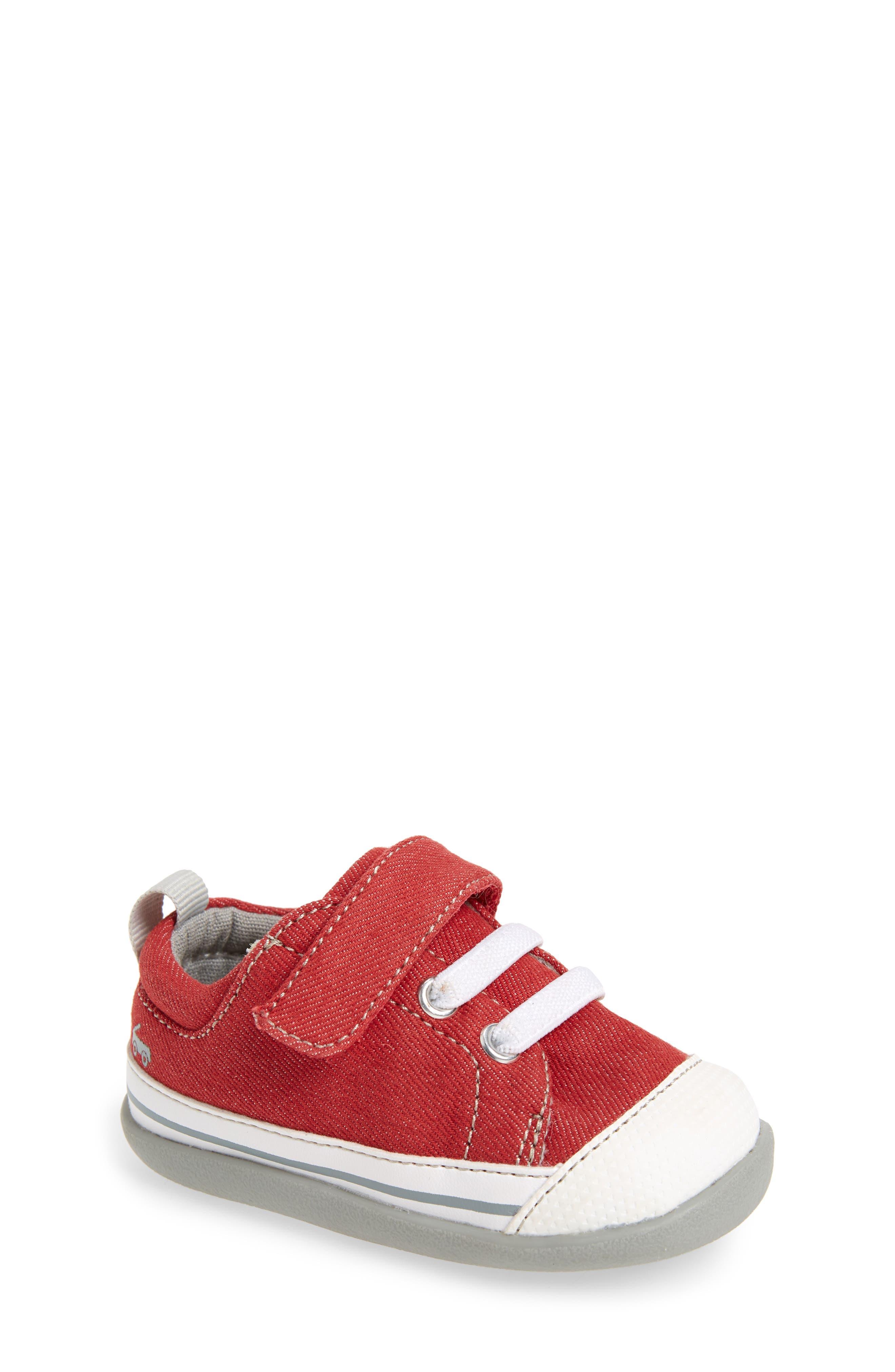 Stevie II Sneaker,                         Main,                         color, Red/ Gray