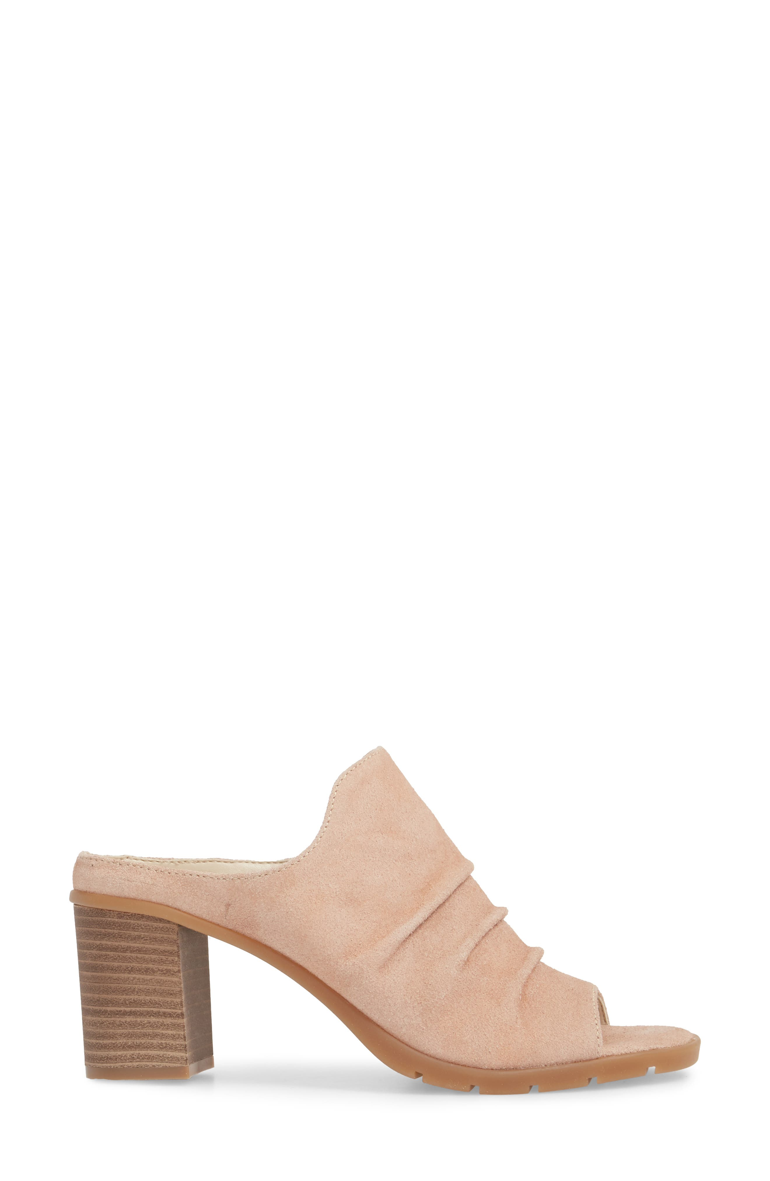 Aim to Pleat Mule,                             Alternate thumbnail 3, color,                             Rose Gold Leather