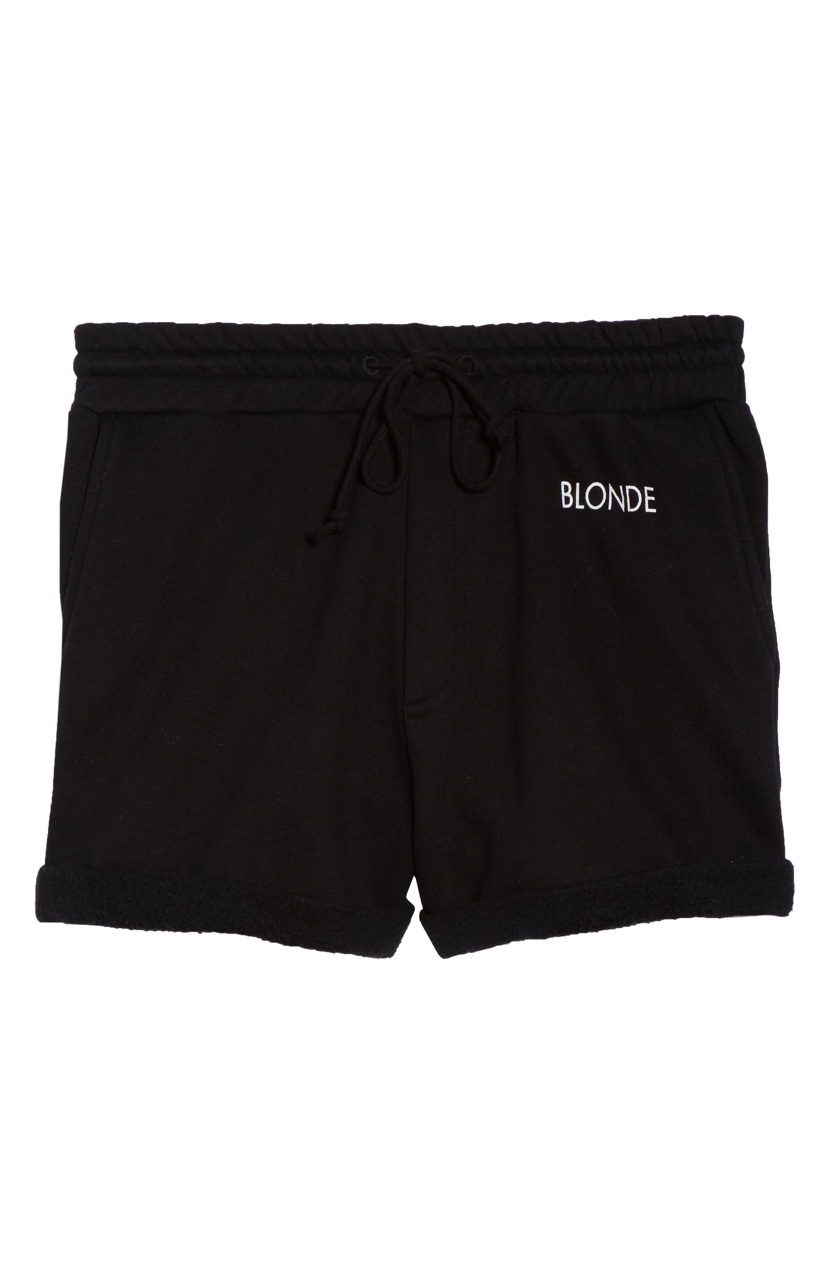 Blonde Lounge Shorts,                             Alternate thumbnail 4, color,                             Black