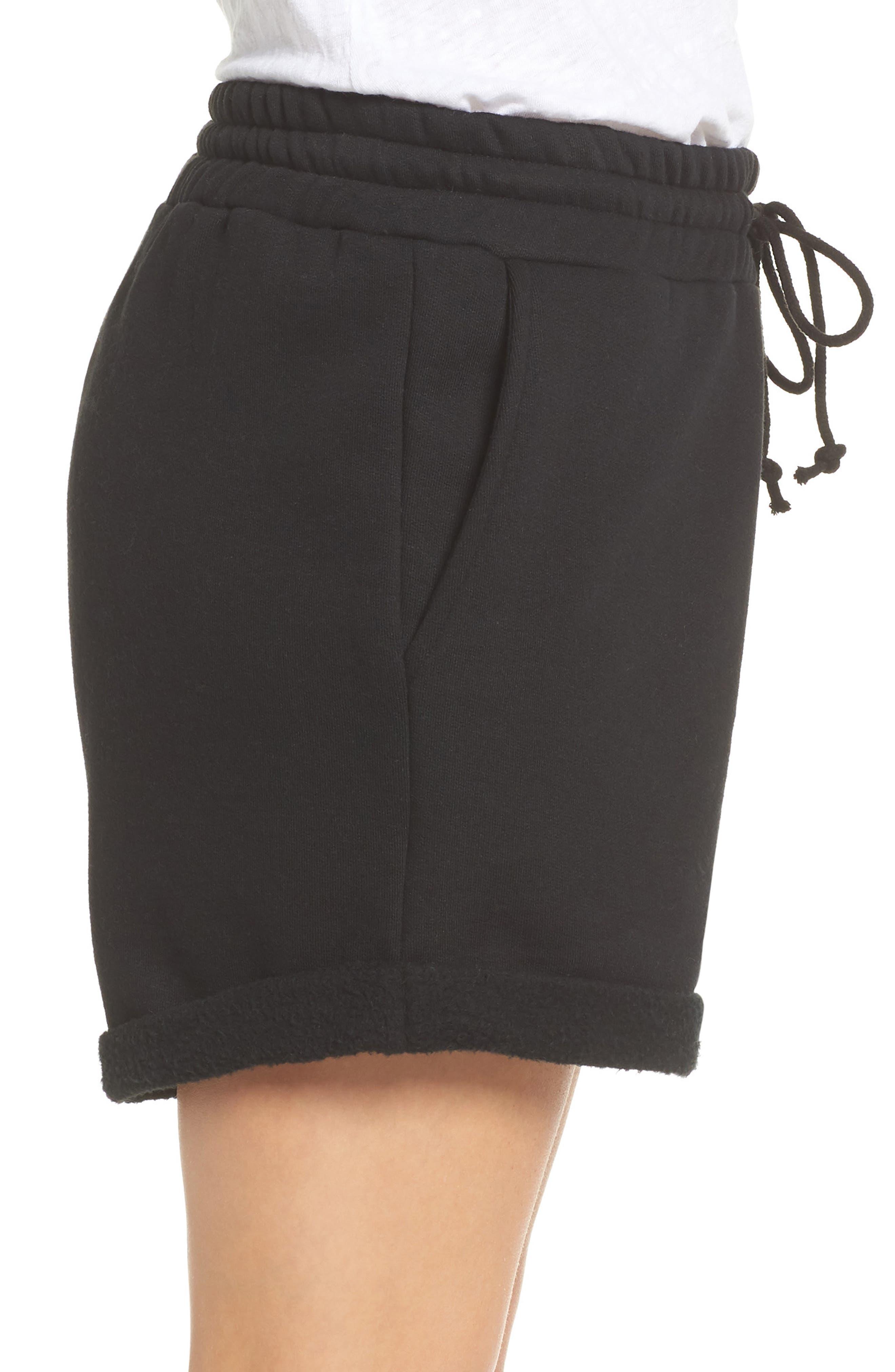 Blonde Lounge Shorts,                             Alternate thumbnail 3, color,                             Black