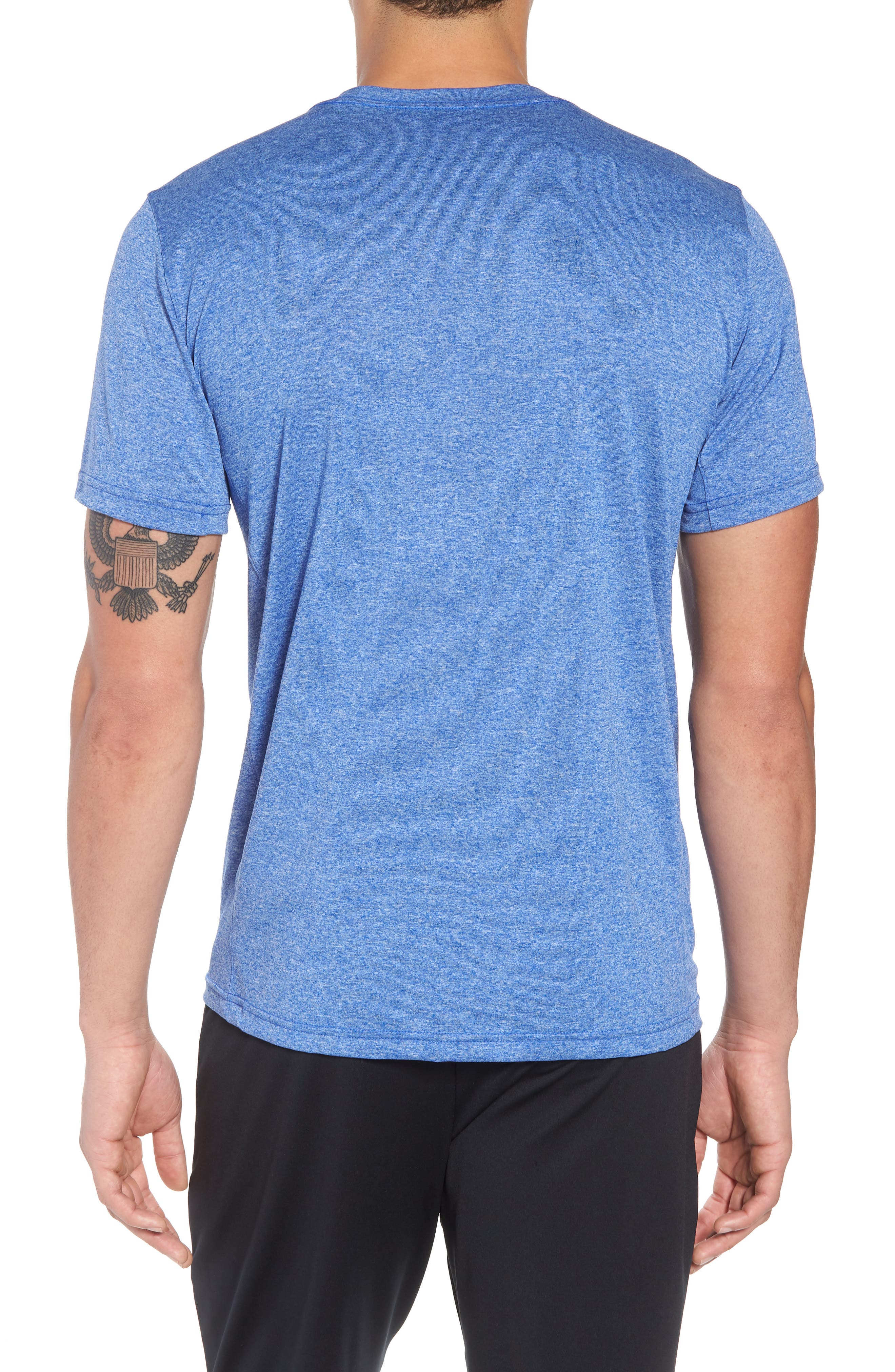 Legend 2.0 Dri-FIT Graphic T-Shirt,                             Alternate thumbnail 2, color,                             Hyper Royal/ Ocean/ Heather