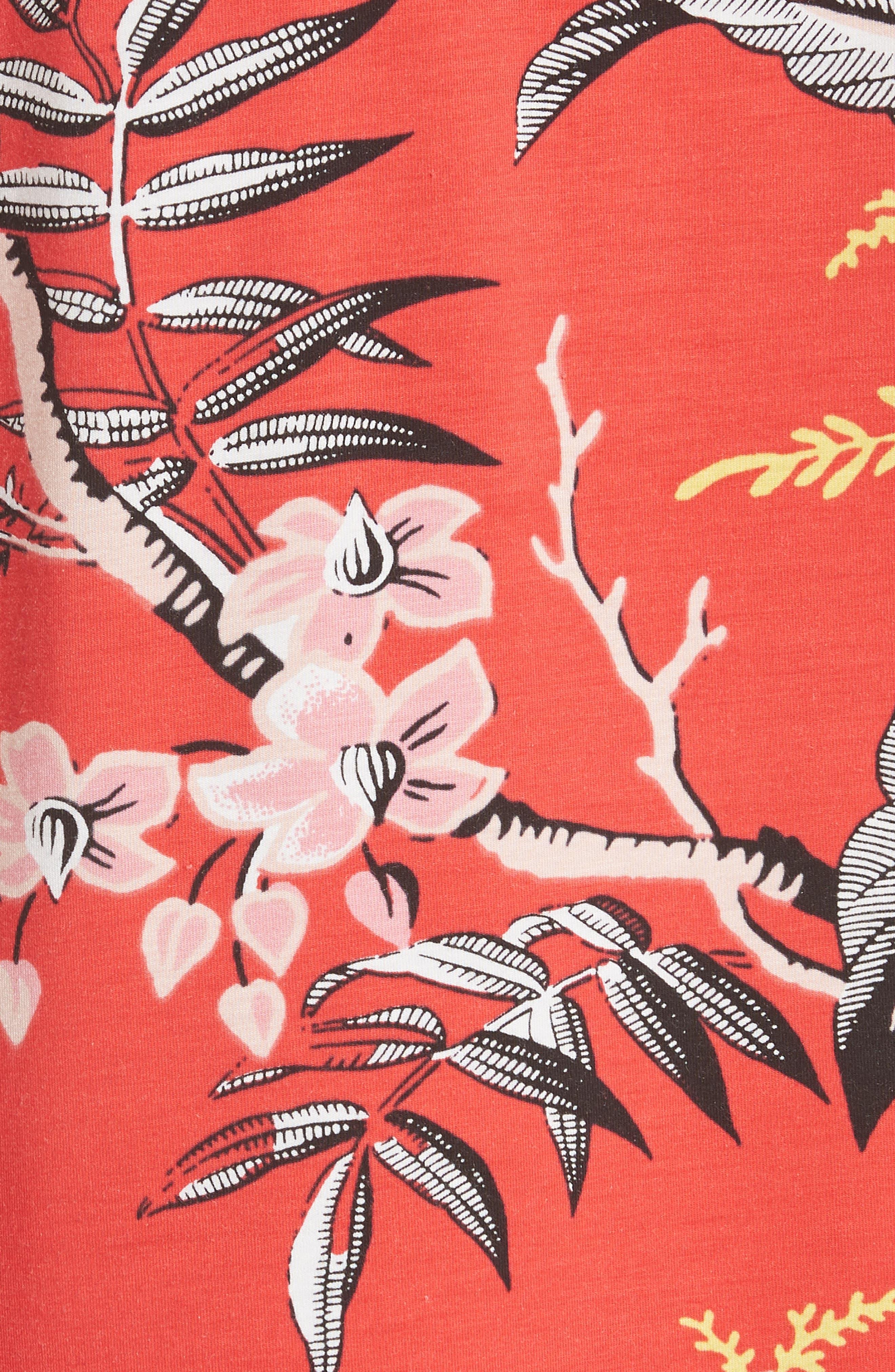 Print Boyfriend Tee,                             Alternate thumbnail 5, color,                             Avalon Poppy