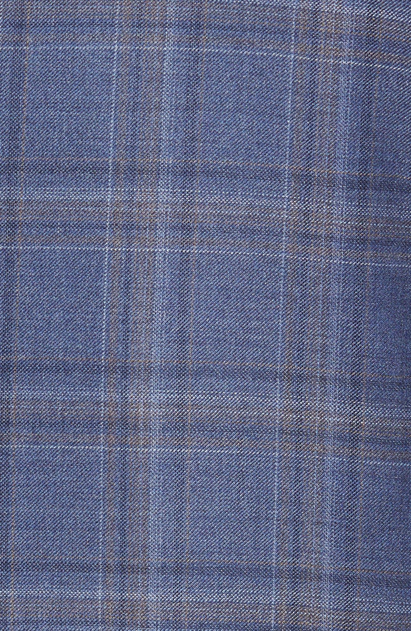 Alternate Image 5  - Peter Millar Classic Fit Windowpane Wool Sport Coat