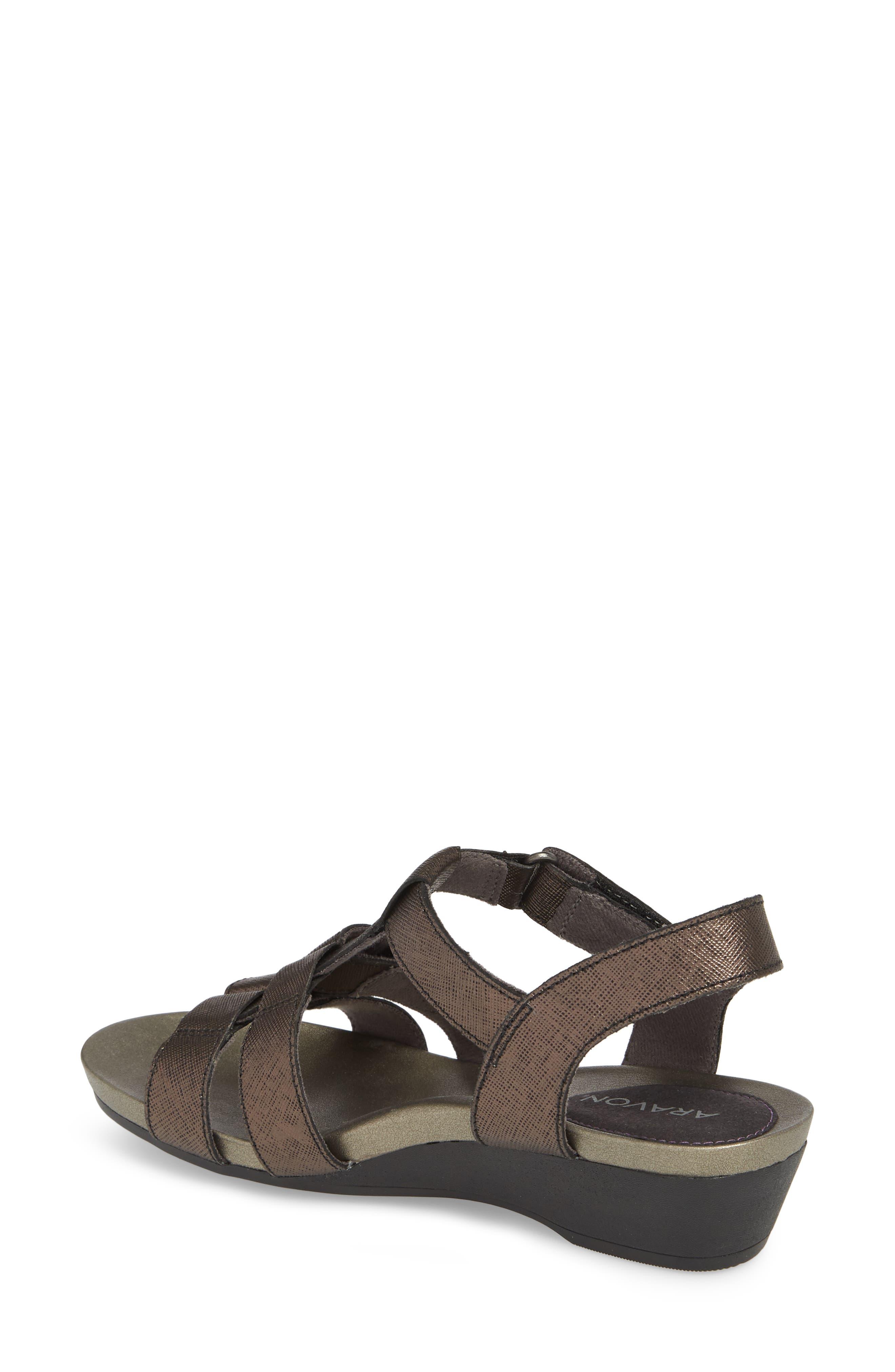 Standon Sandal,                             Alternate thumbnail 2, color,                             Black Leather