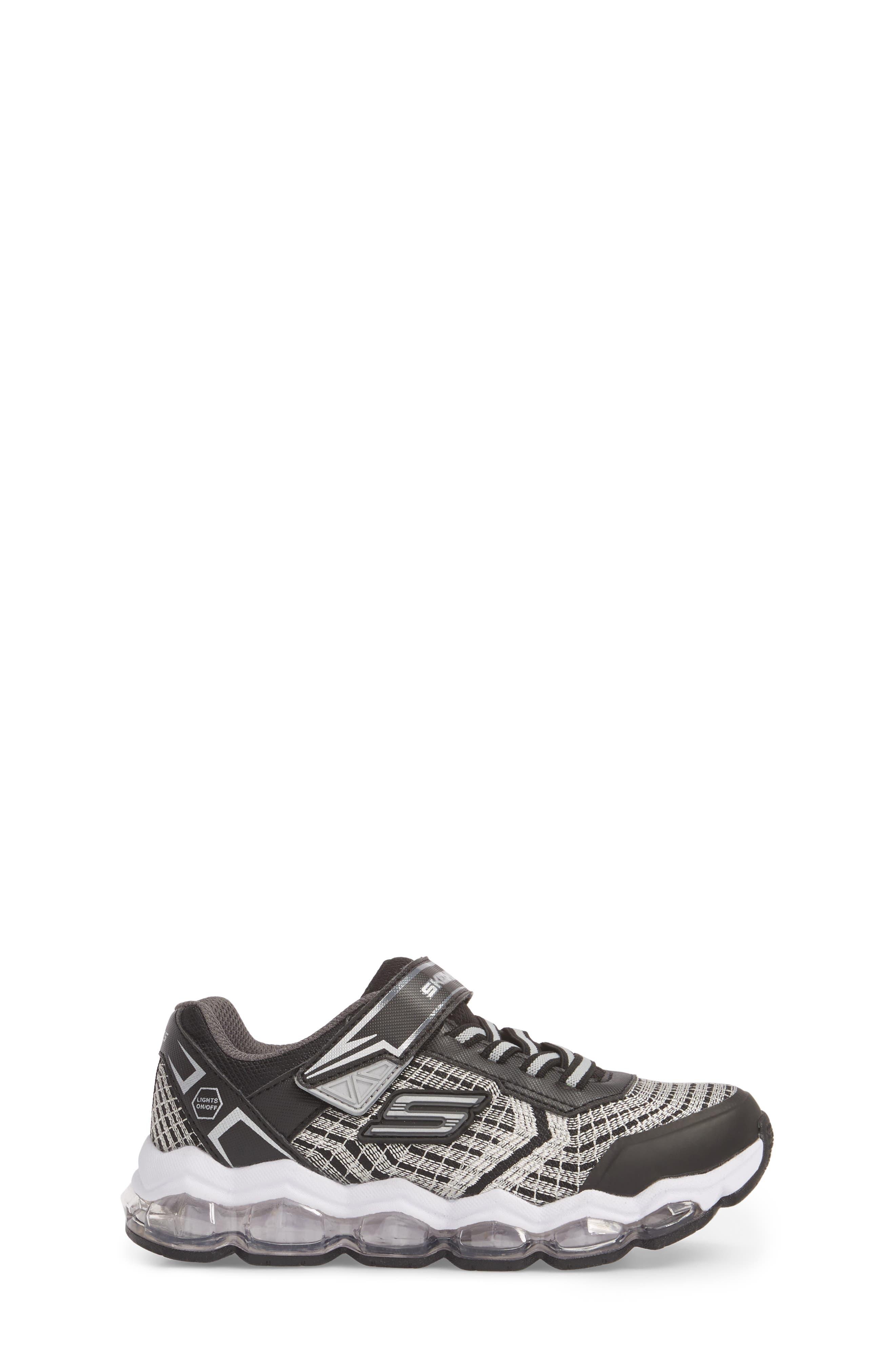 Energy Lights Sneaker,                             Alternate thumbnail 3, color,                             Black/ Silver