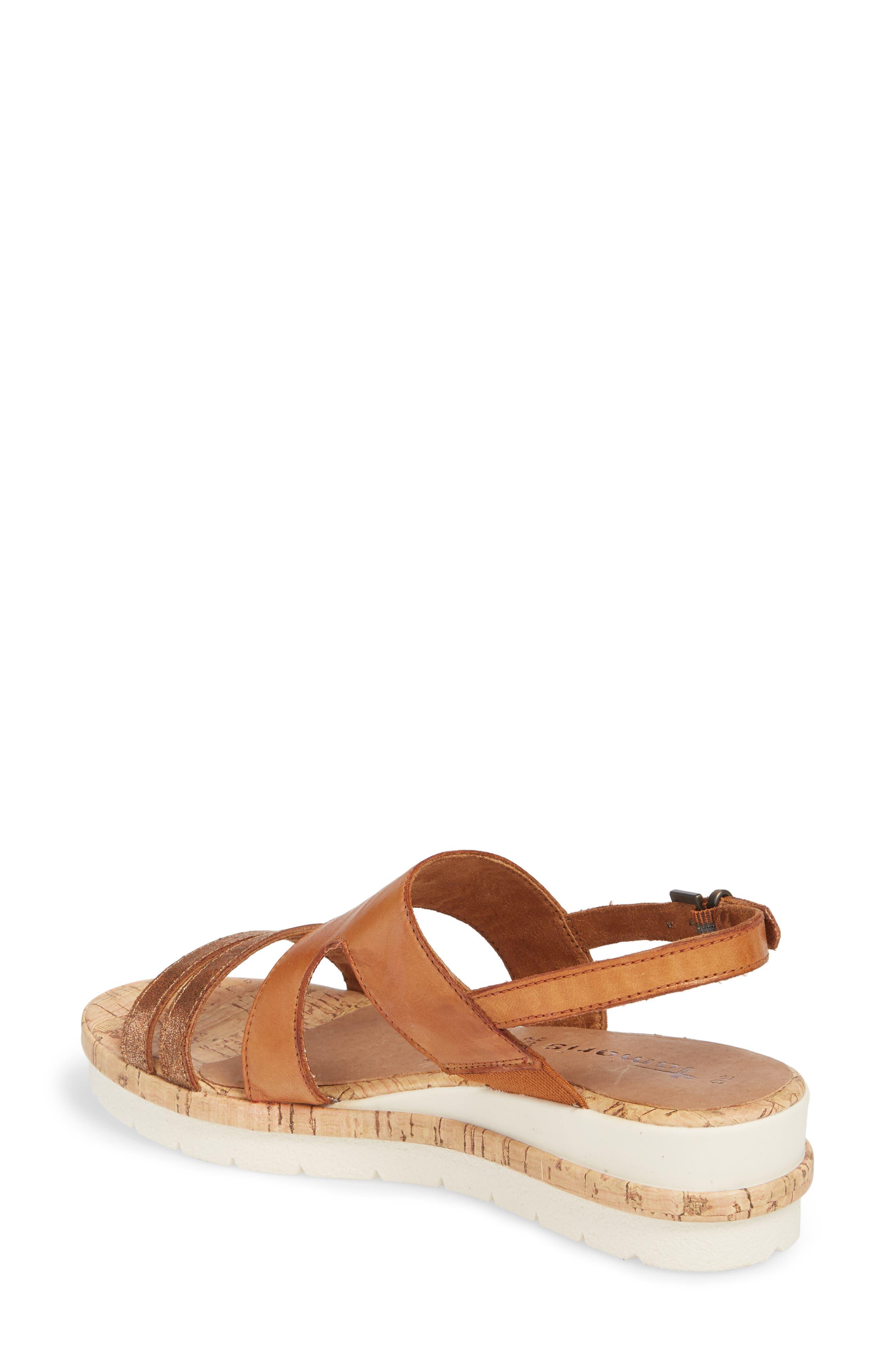 Eda Wedge Sandal,                             Alternate thumbnail 2, color,                             Nut Leather