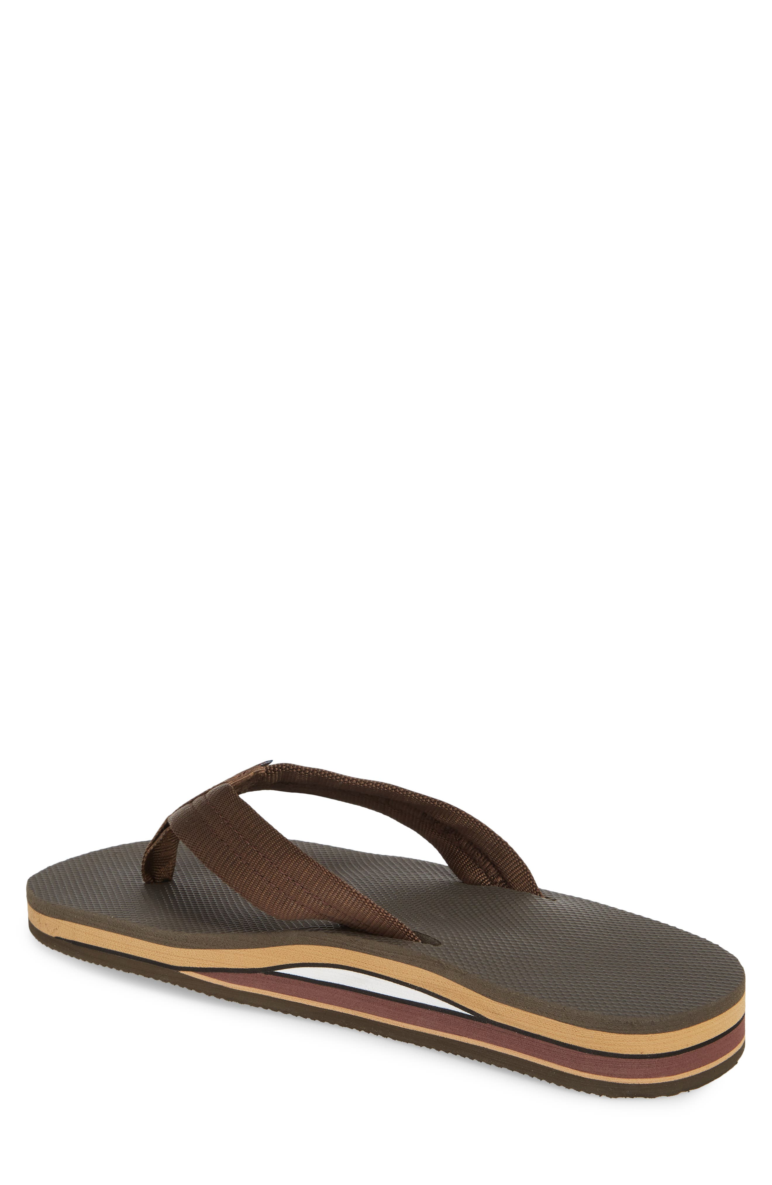 Double Layer Classic Flip Flop,                             Alternate thumbnail 2, color,                             Brown