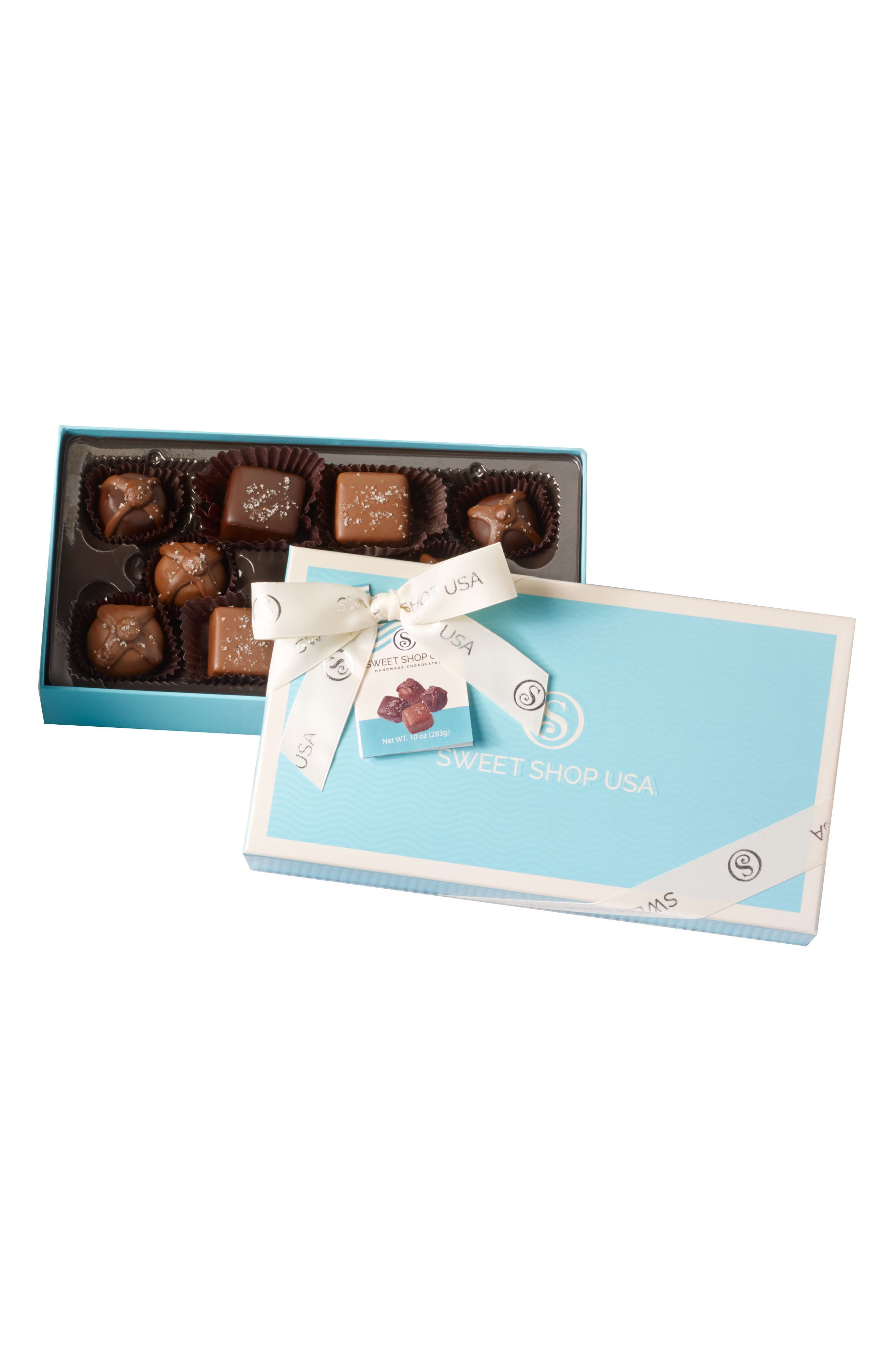 10 Piece Assorted Truffles Everyday Box,                             Main thumbnail 1, color,                             Blue