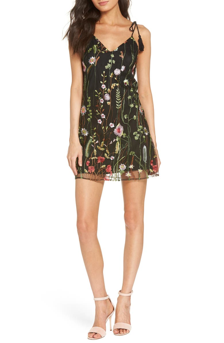 Treat Yourself Embroidered Minidress