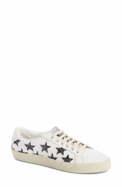 9c6948c3bfd7 Saint Laurent Court Classics Stars Sneaker (Women)