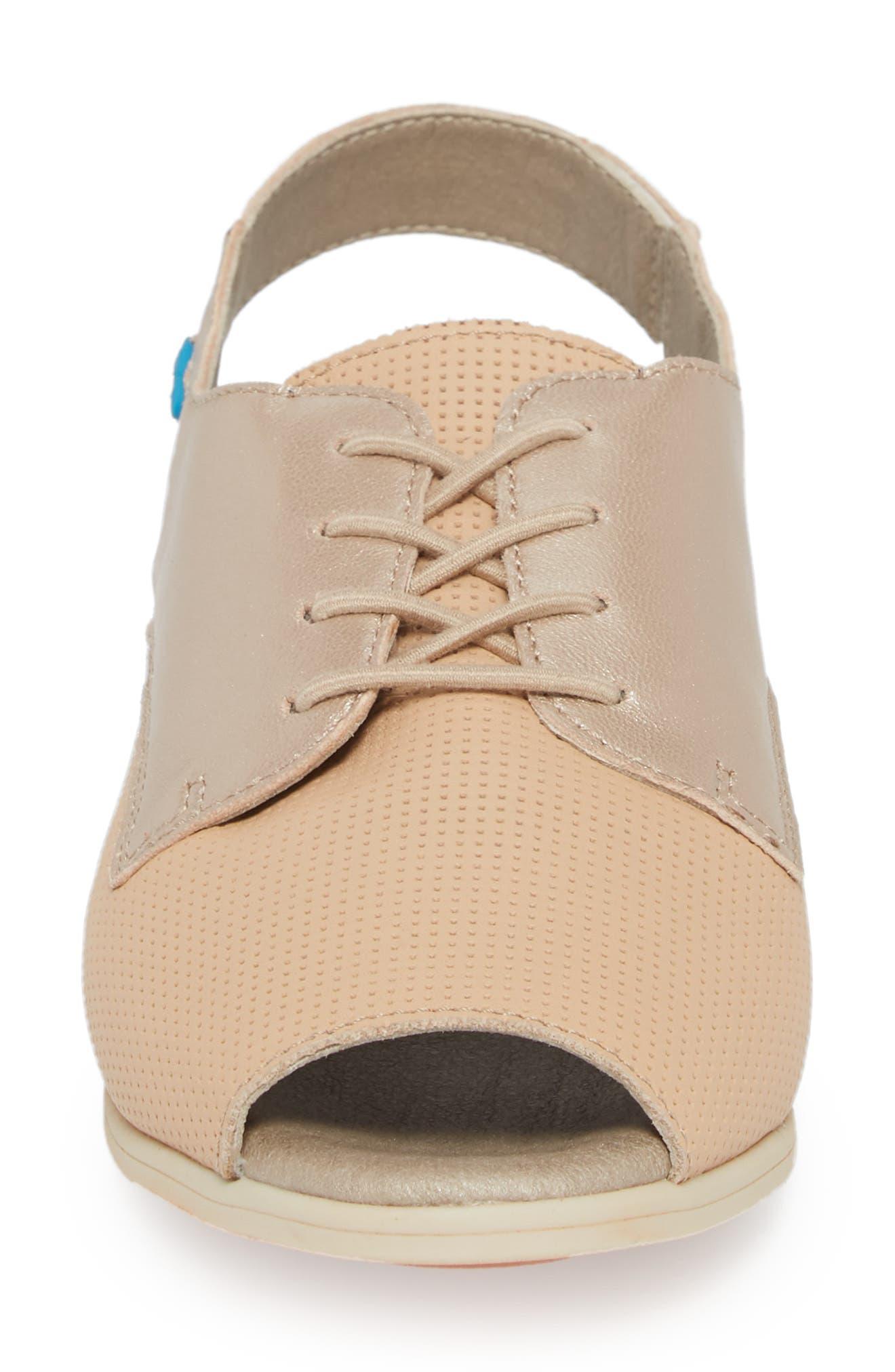 Cleone Slingback Sandal,                             Alternate thumbnail 4, color,                             Puima Sabbia Leather