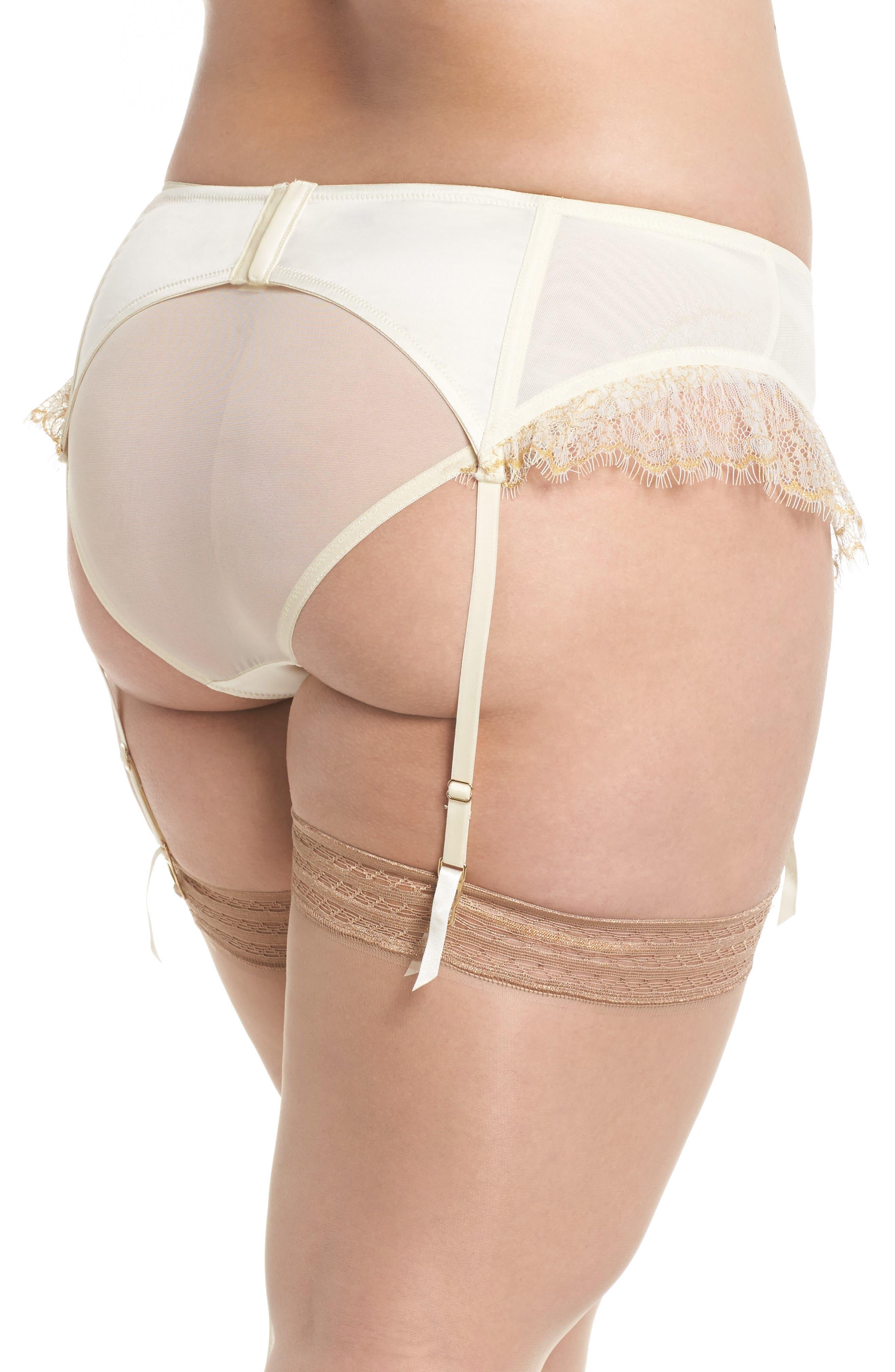 Karine Lace Garter Belt,                             Alternate thumbnail 2, color,                             Ivory