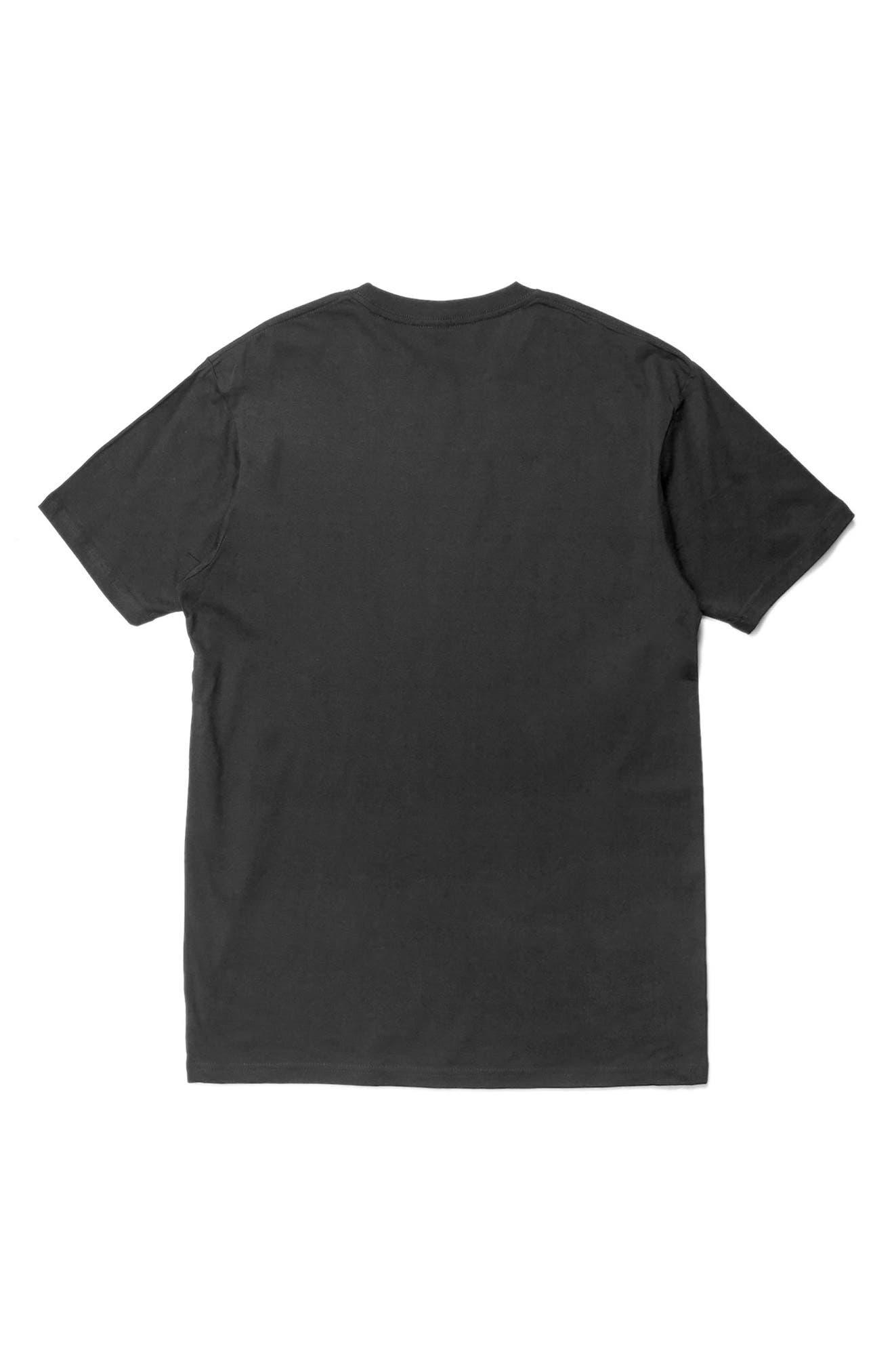Positive Future Graphic T-Shirt,                             Alternate thumbnail 2, color,                             Black