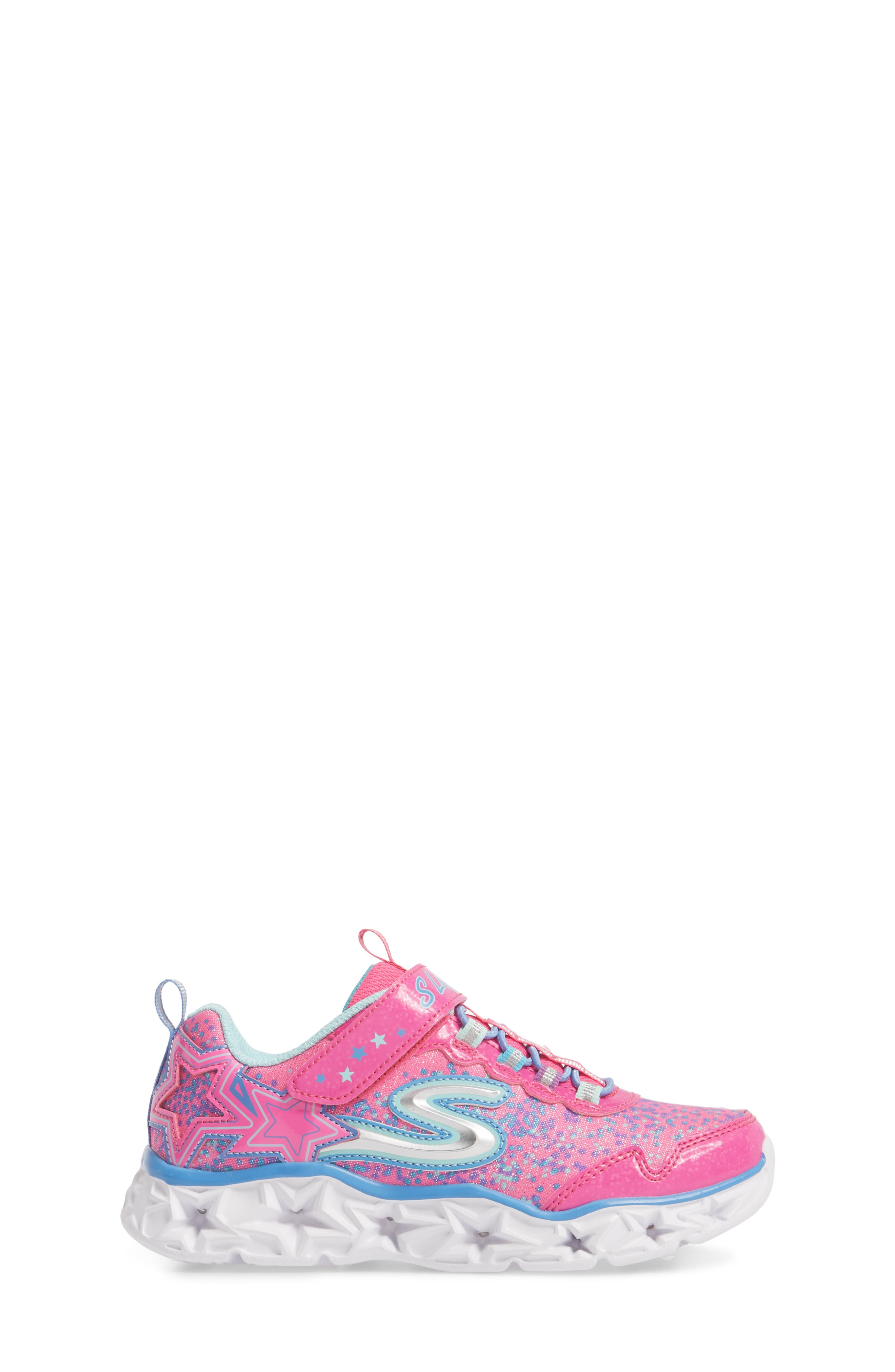 Galaxy Lights Sneakers,                             Alternate thumbnail 3, color,                             Neon Pink/ Multi