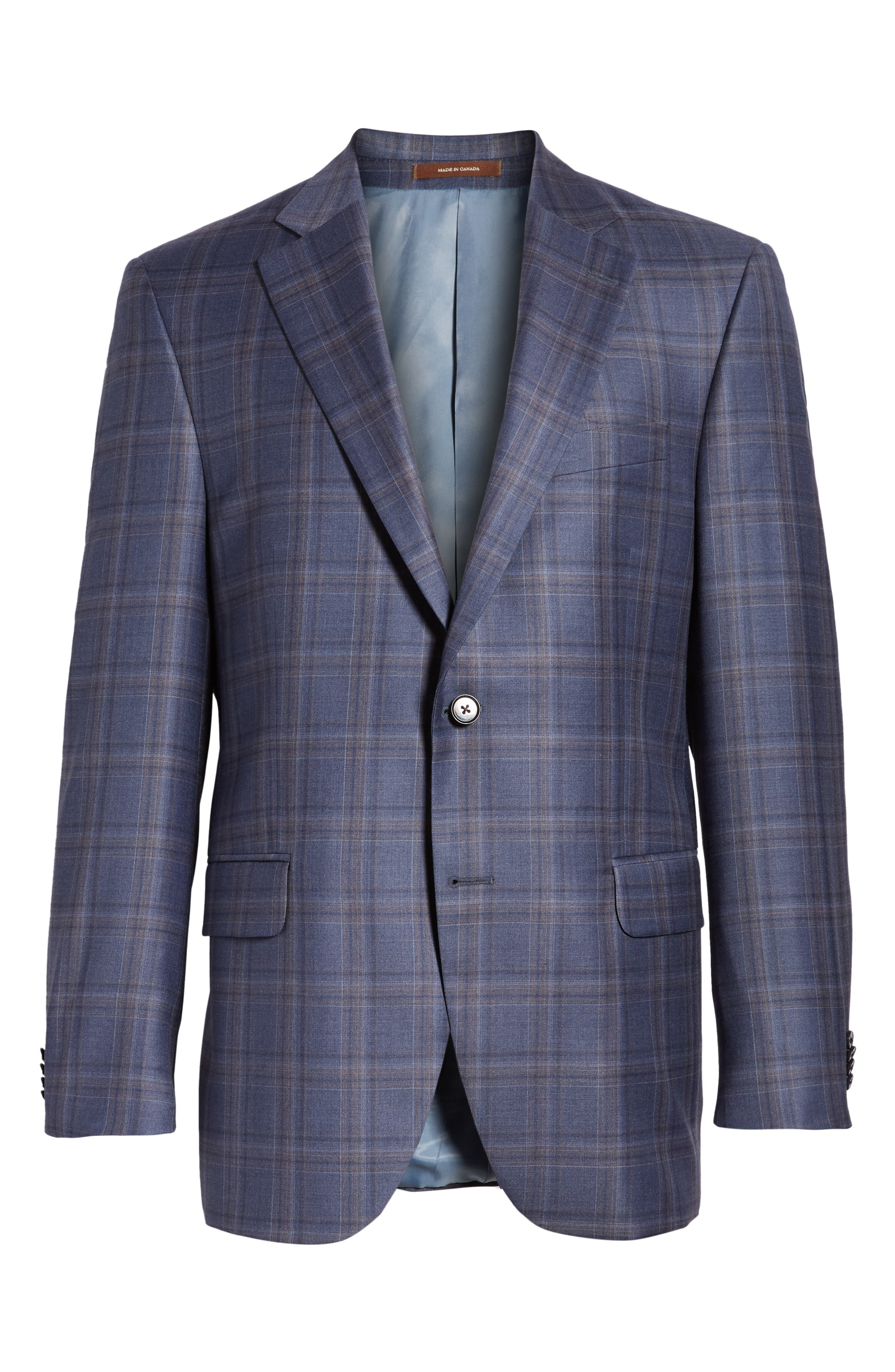 Alternate Image 6  - Peter Millar Classic Fit Windowpane Wool Sport Coat