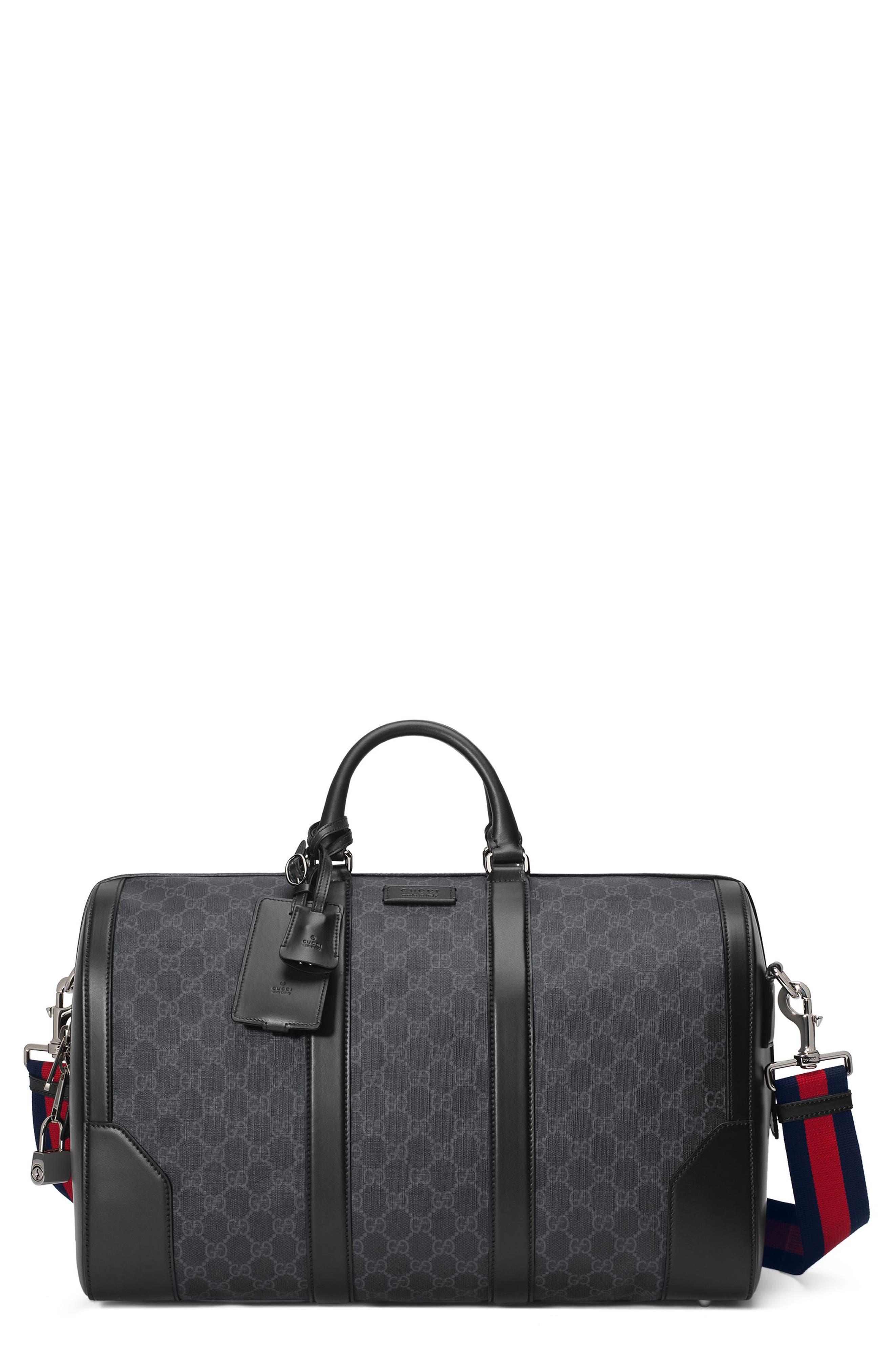 GG Supreme Duffel Bag,                             Main thumbnail 1, color,                             Black