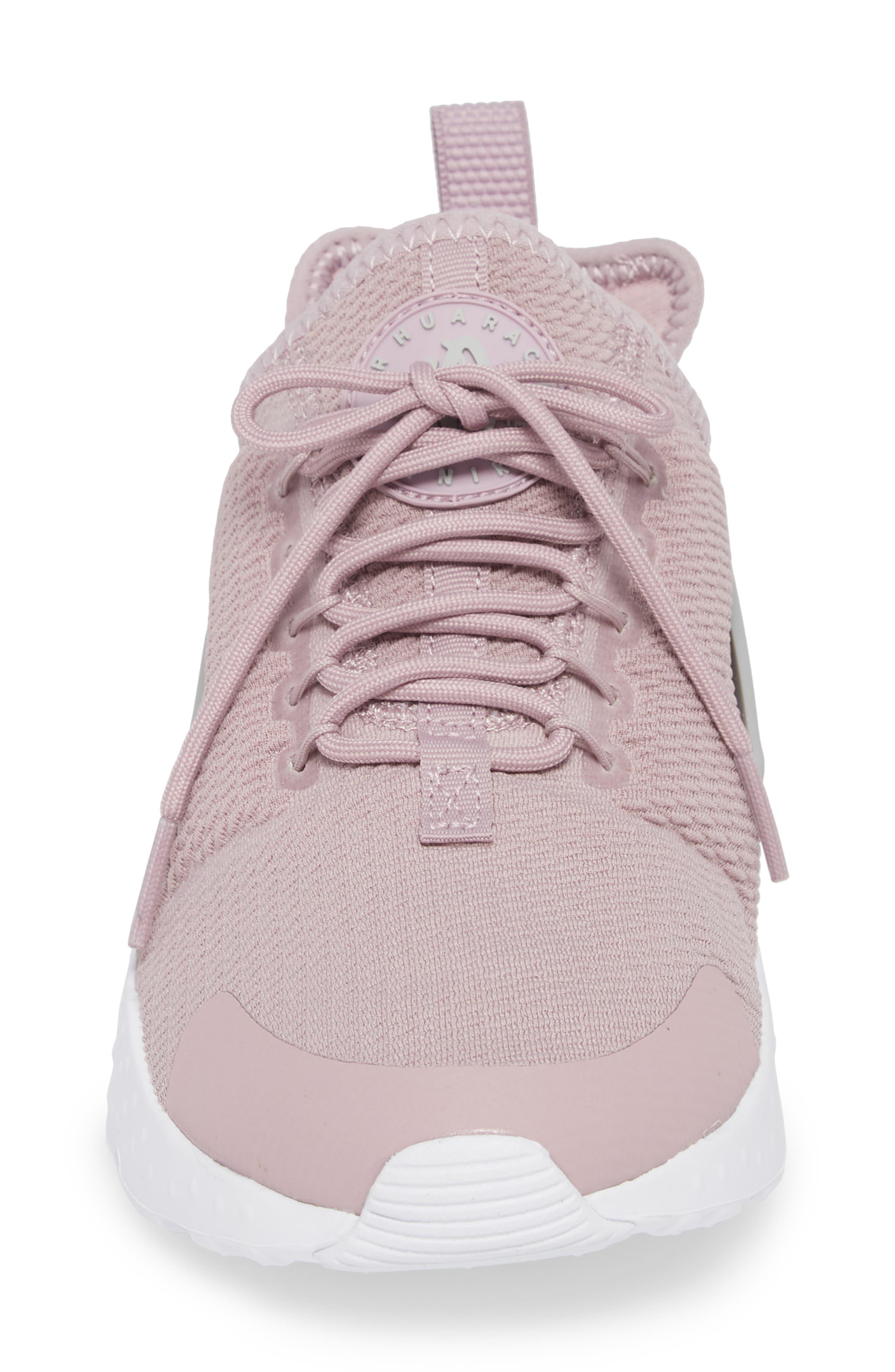 Air Huarache Sneaker,                             Alternate thumbnail 4, color,                             Elemental Rose/ Wolf Grey