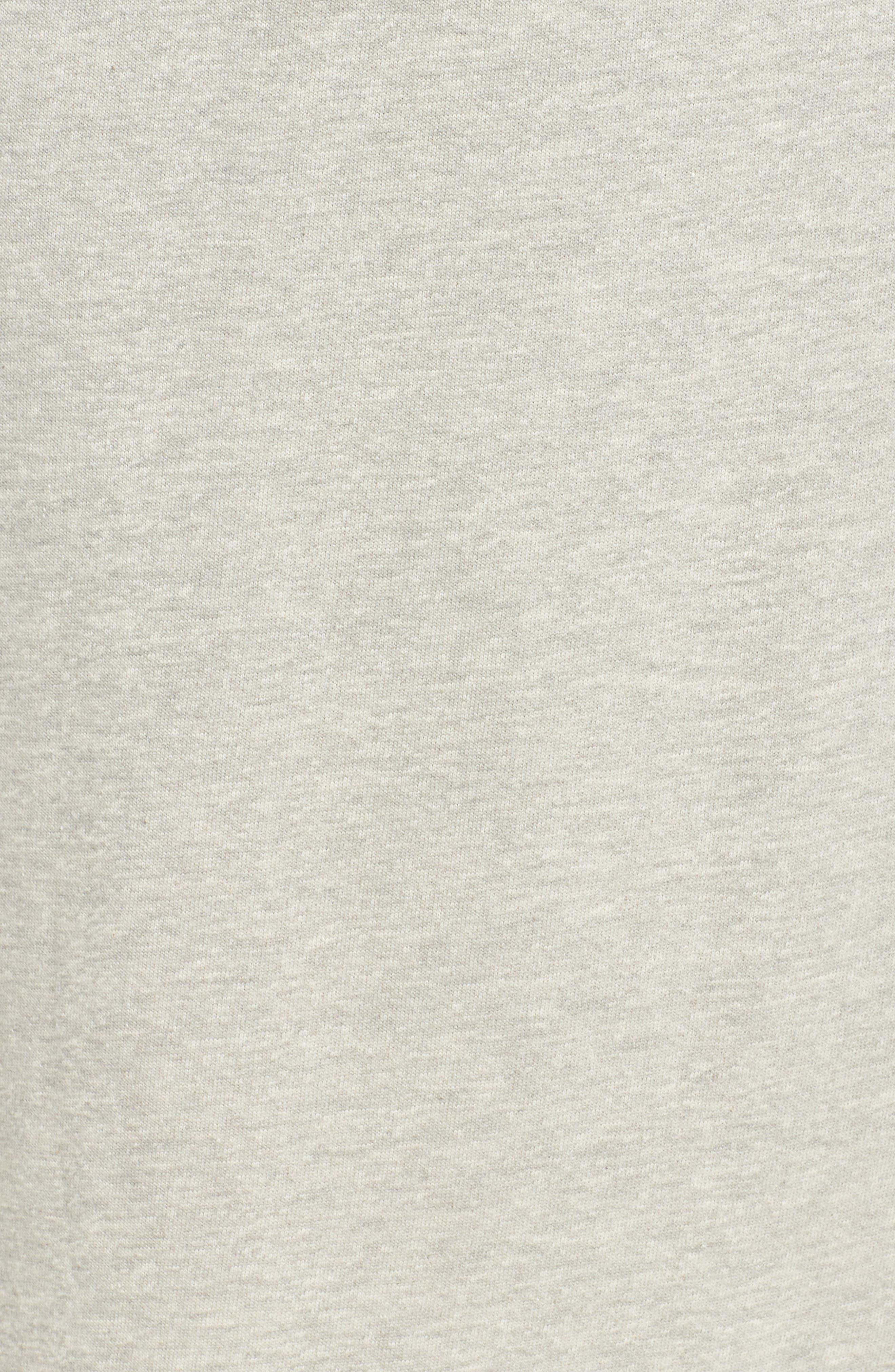 Drawstring Knit Skirt,                             Alternate thumbnail 6, color,                             Grey Heather