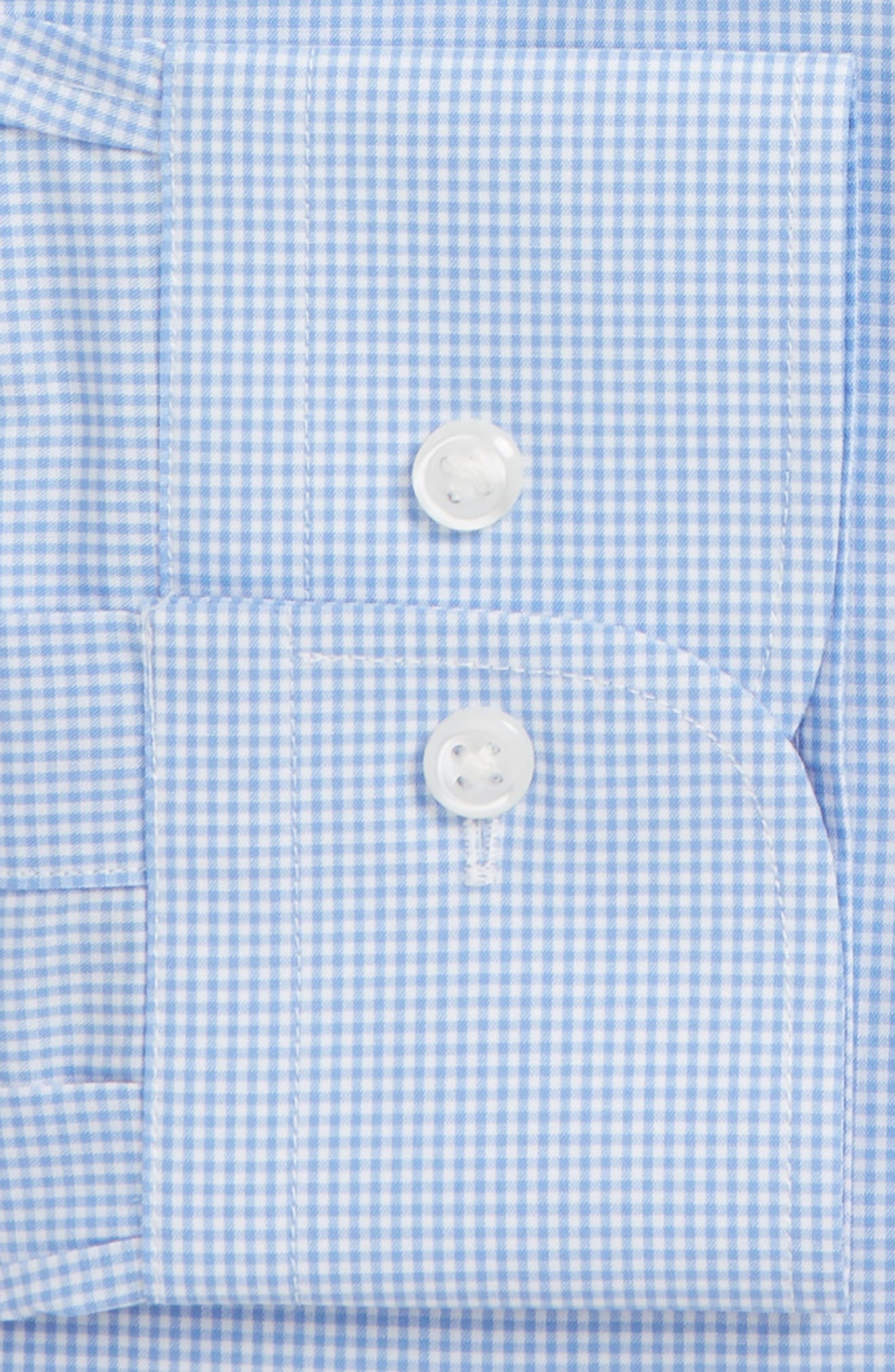 Traditional Fit Check Dress Shirt,                             Alternate thumbnail 5, color,                             Blue Cornflower