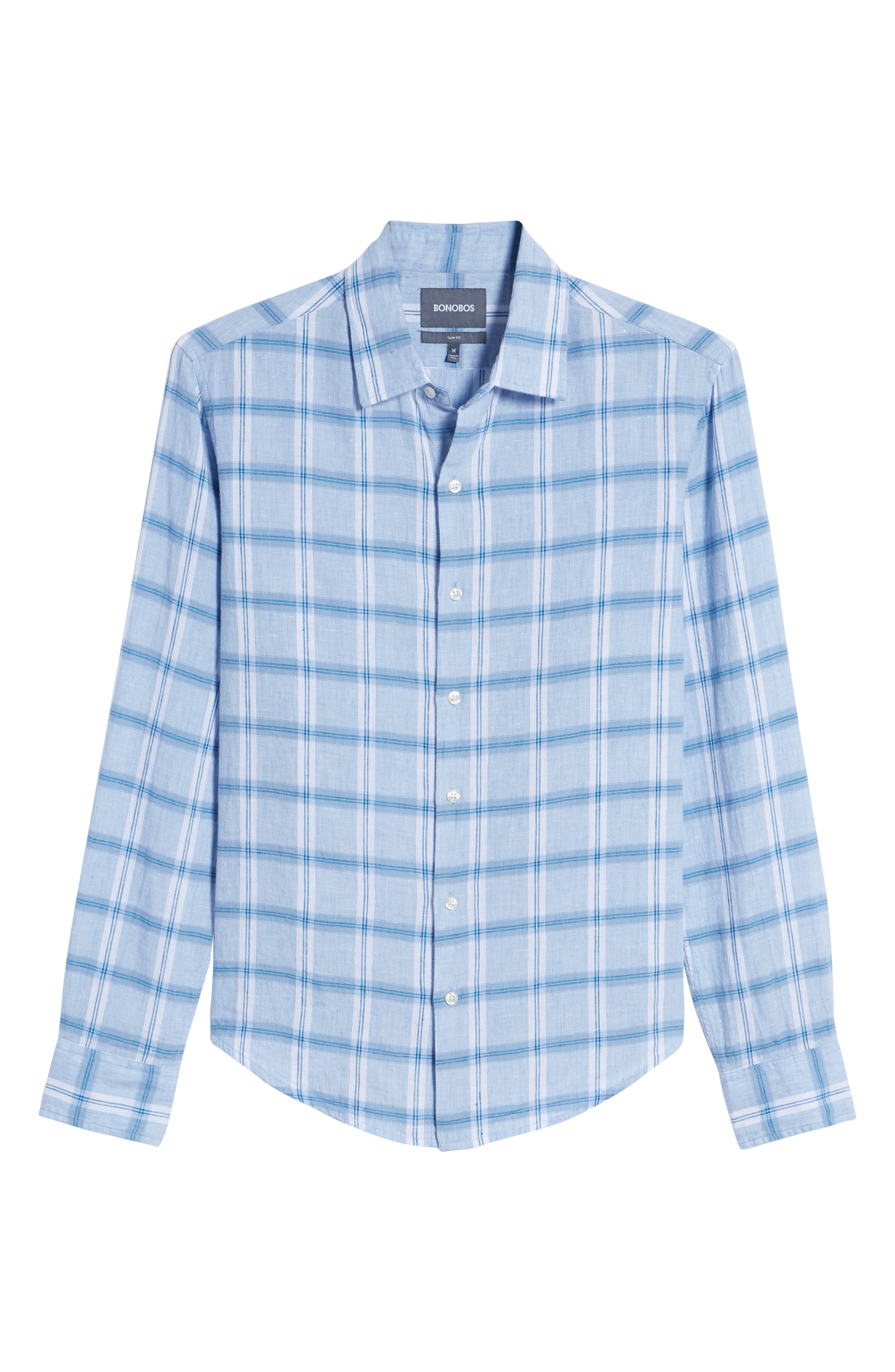 Alternate Image 6  - Bonobos Slim Fit Plaid Linen & Cotton Sport Shirt