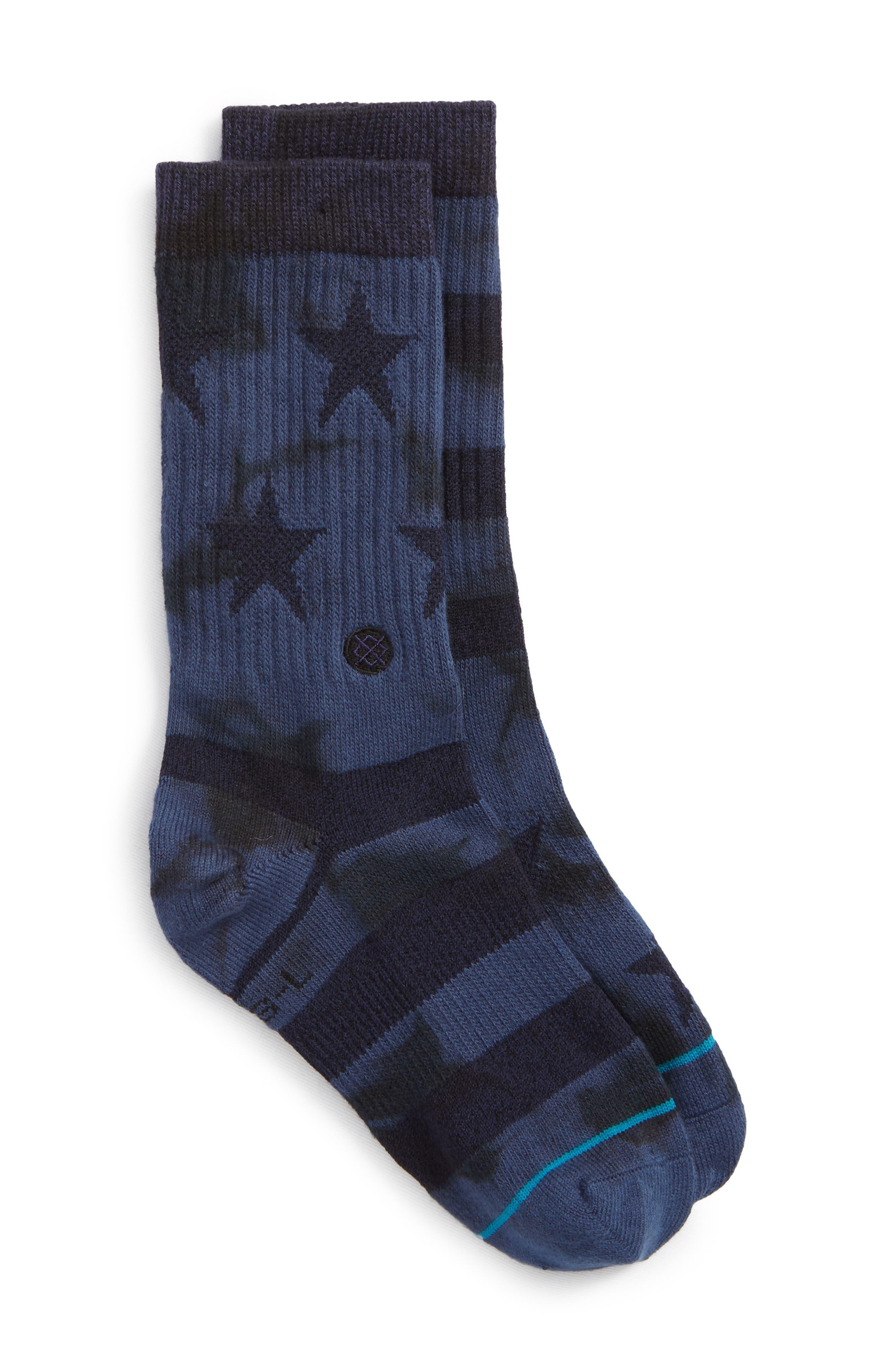 Side Reel Socks,                             Main thumbnail 1, color,                             Navy