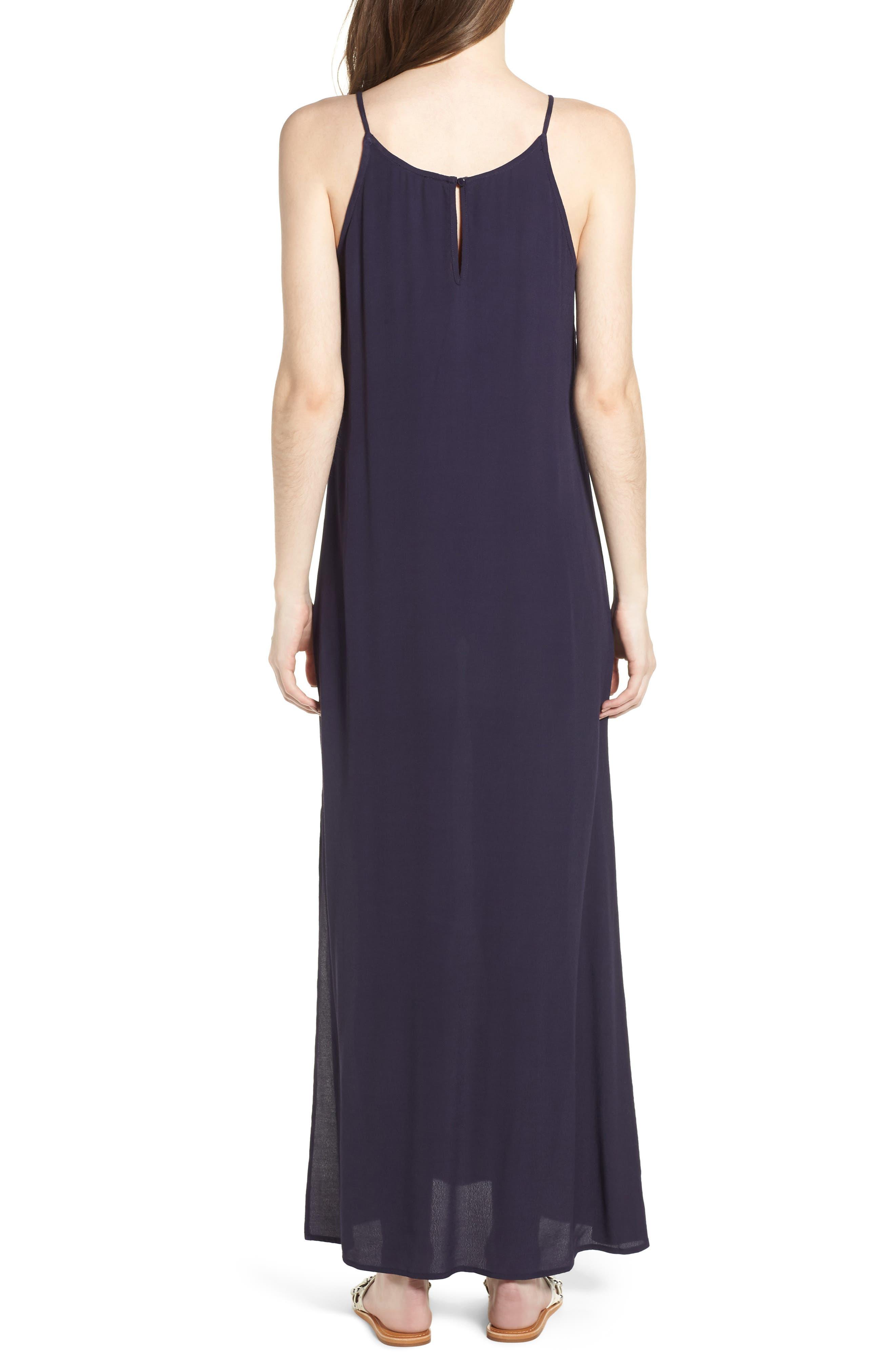 Maxi Dress,                             Alternate thumbnail 2, color,                             Navy