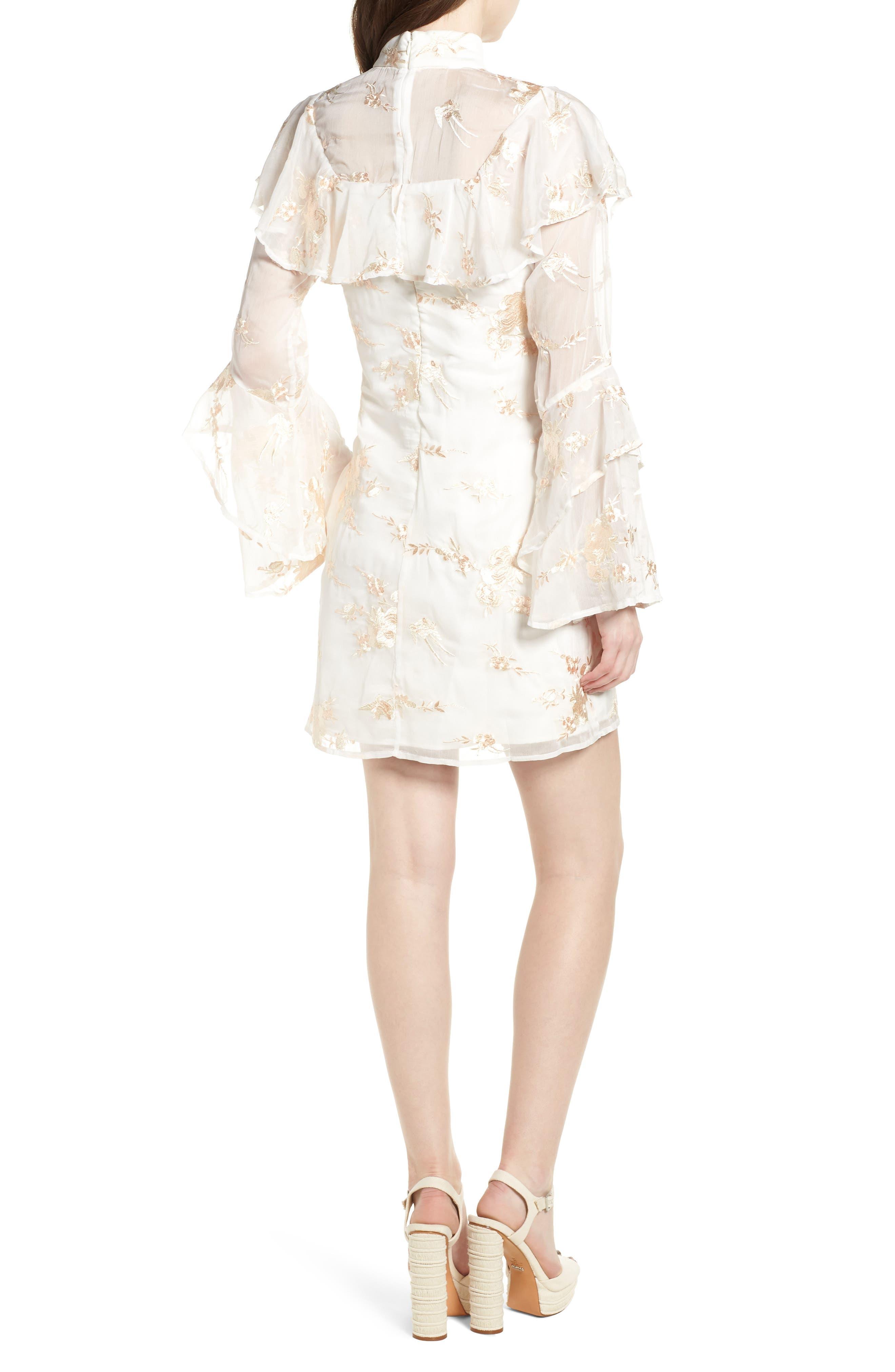 Composition Dress,                             Alternate thumbnail 3, color,                             White