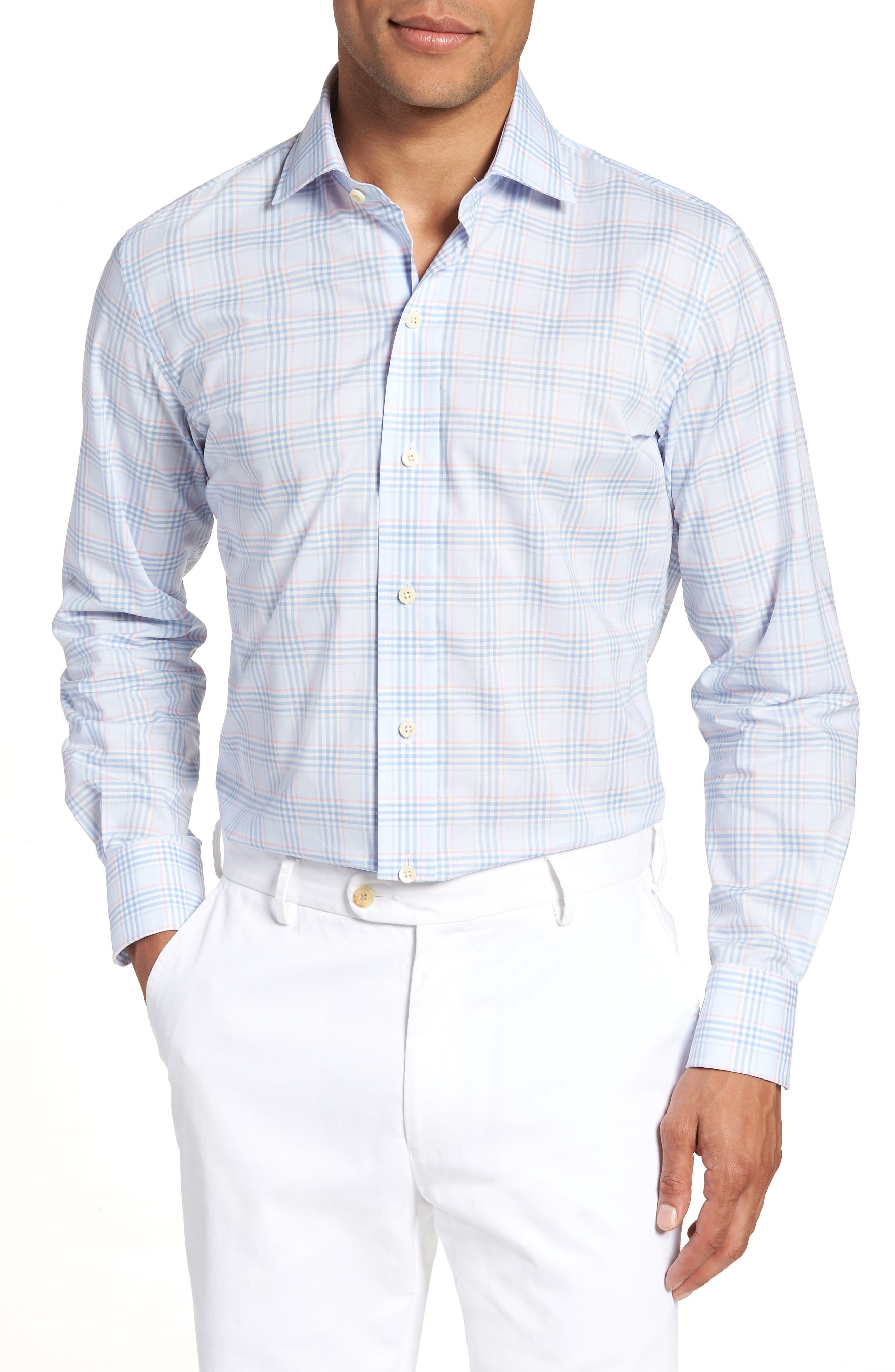 Ledbury Knollcrest Slim Fit Plaid Dress Shirt