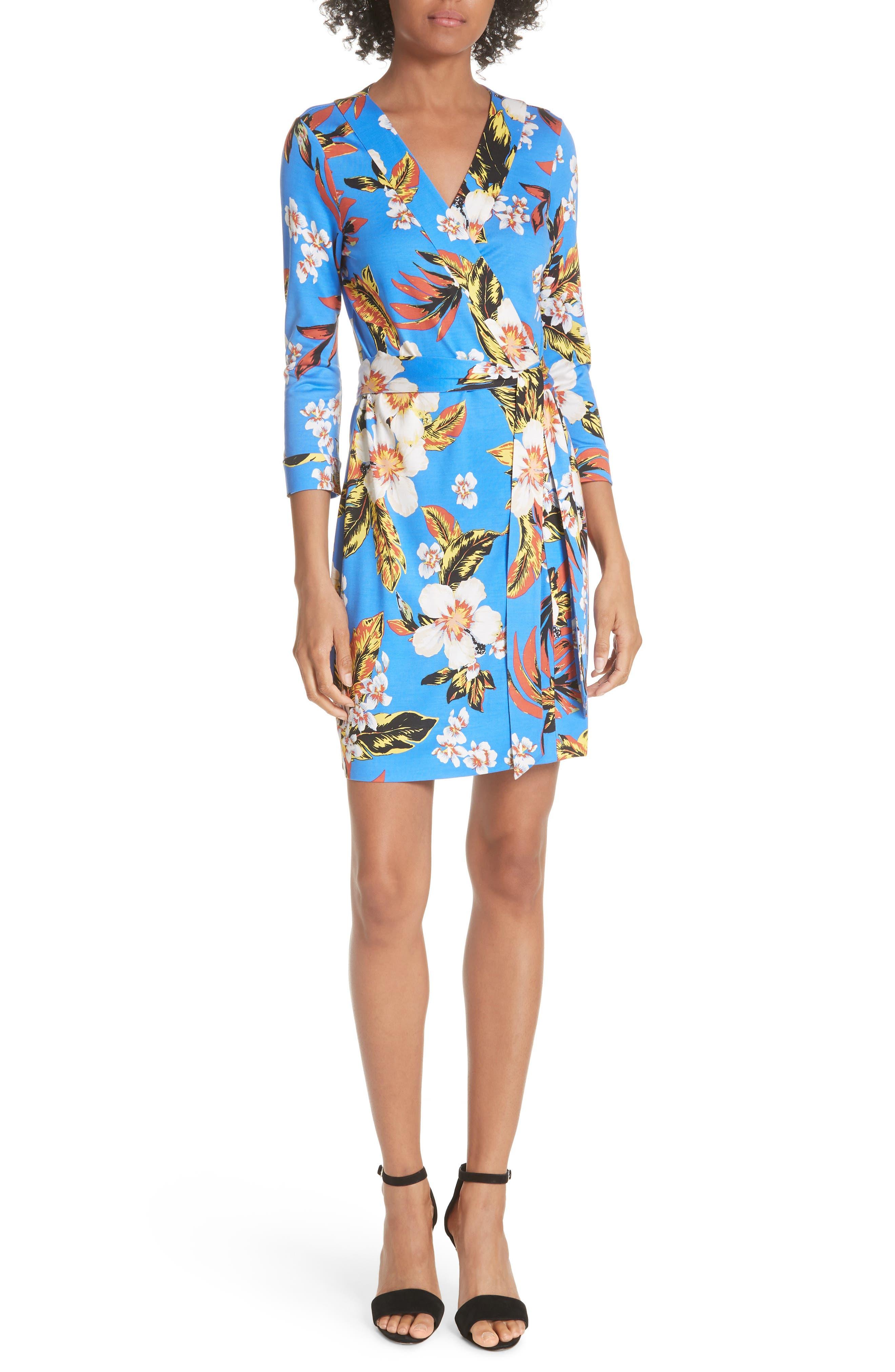 Diane von Furstenberg Julian Floral Silk Minidress