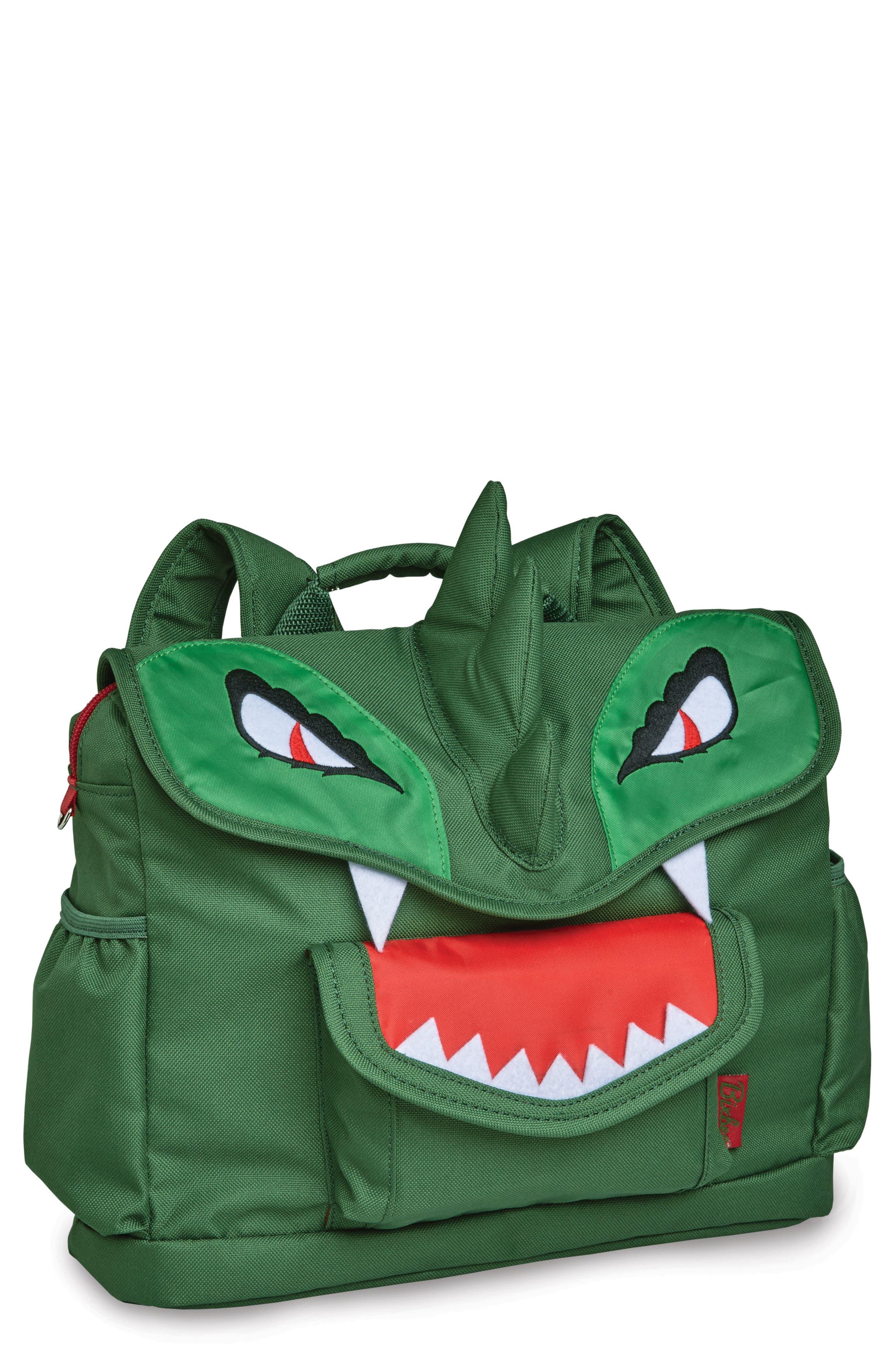 Bixbee Animal Pack - Dinosaur Water Resistant Backpack (Kids)