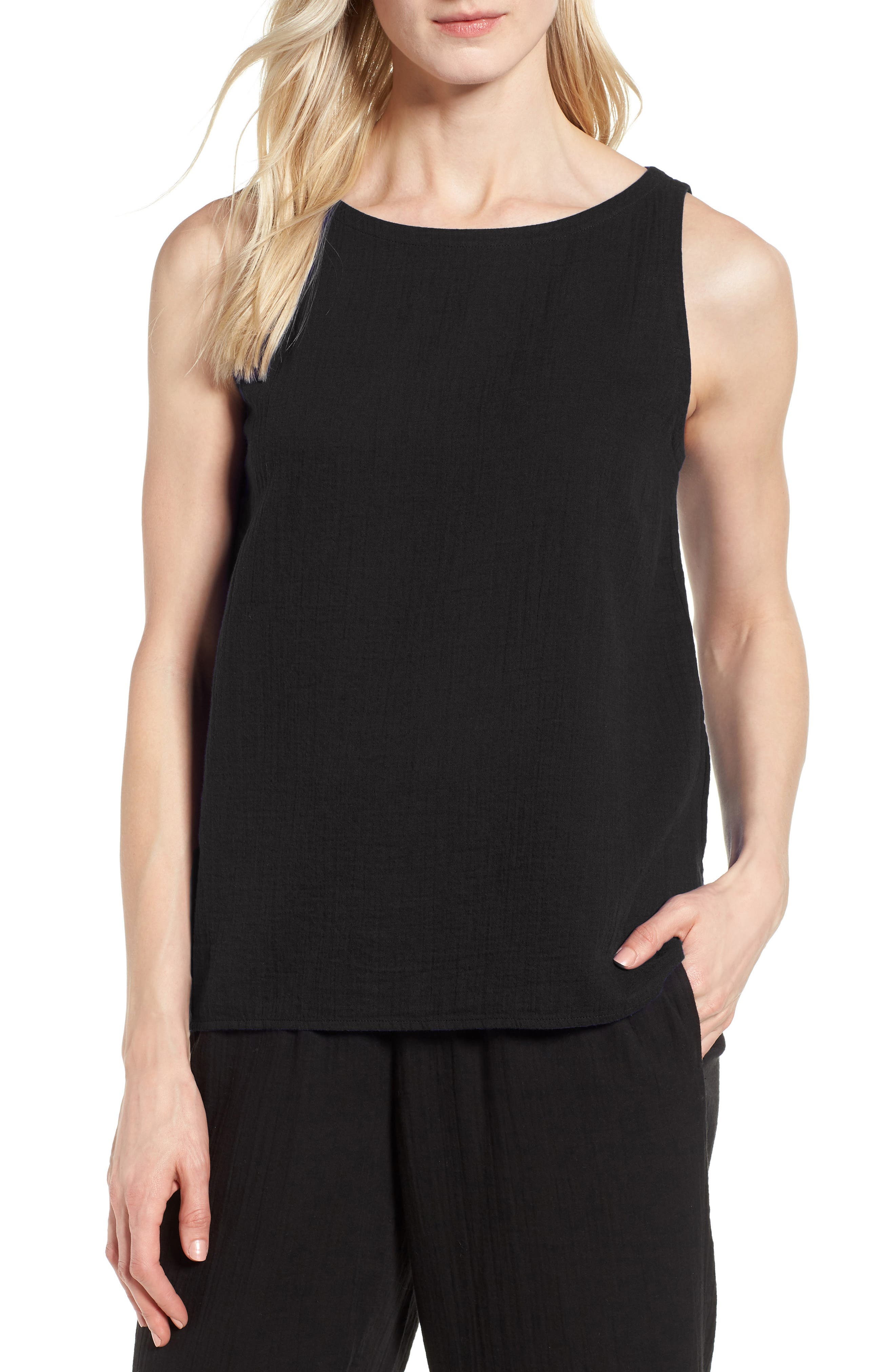Eileen Fisher Organic Cotton Shell (Regular & Petite)