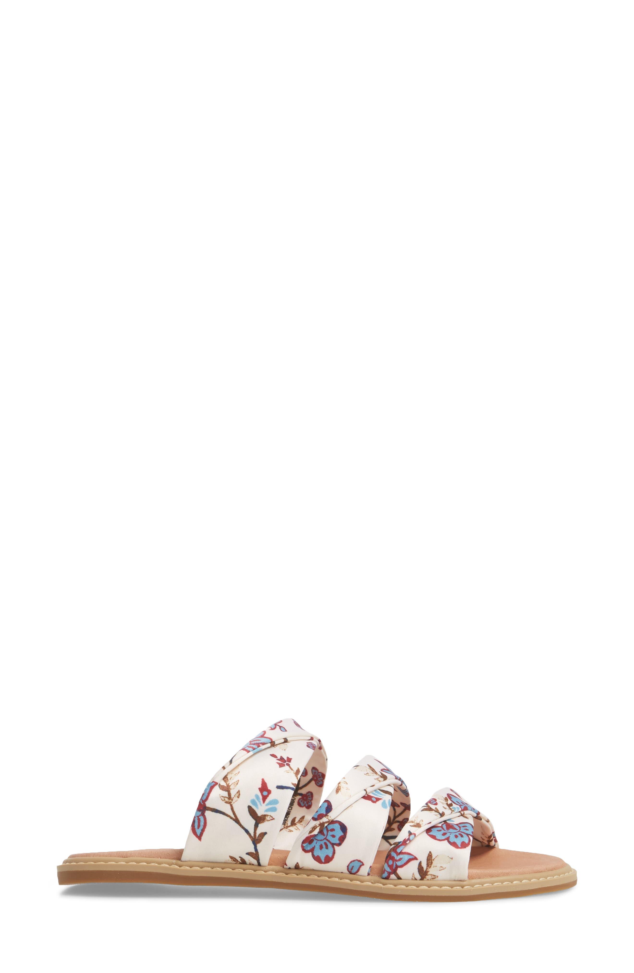 Cooper Slide Sandal,                             Alternate thumbnail 3, color,                             White Agrestic Fabric