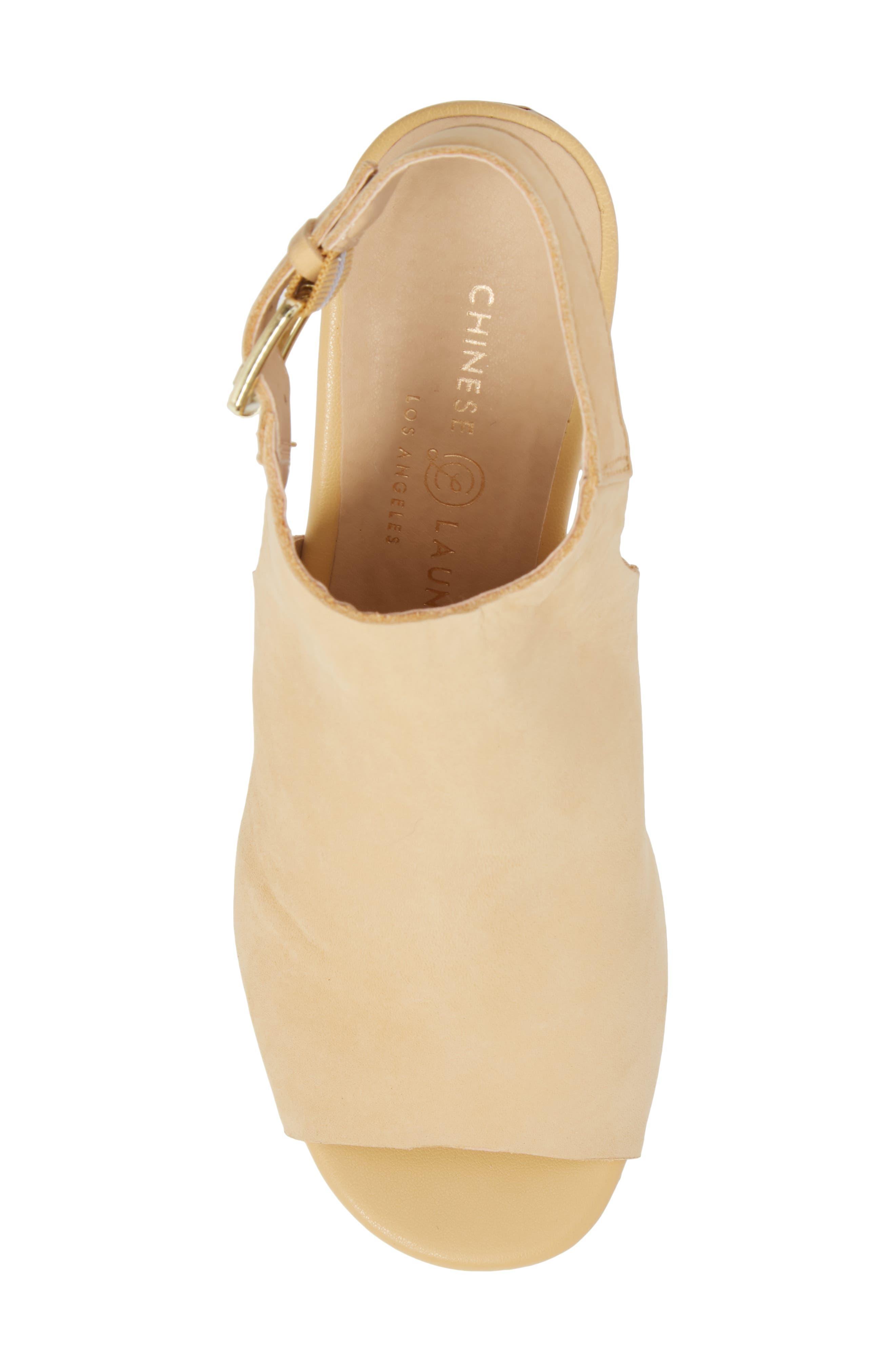 Trinity Studded Platform Sandal,                             Alternate thumbnail 5, color,                             Cream