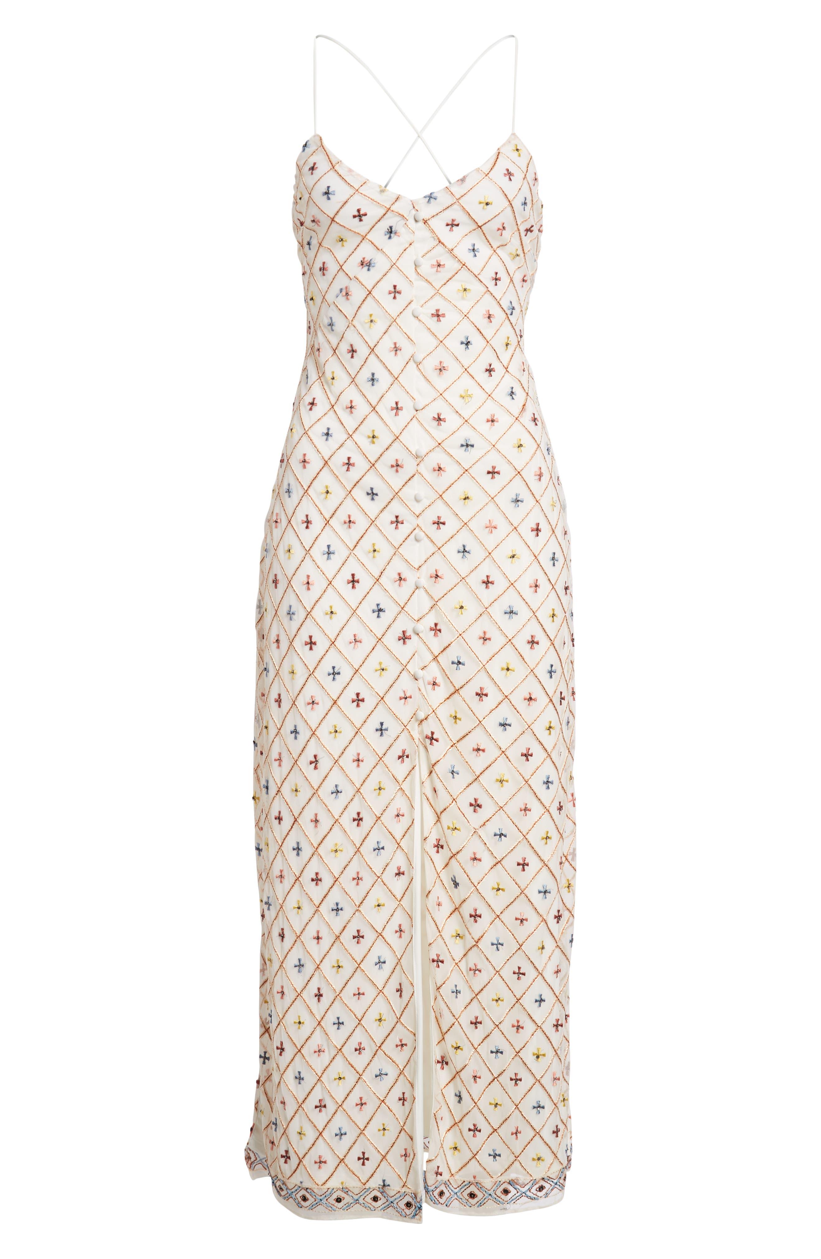Linda Maxi Dress,                             Alternate thumbnail 7, color,                             Cream