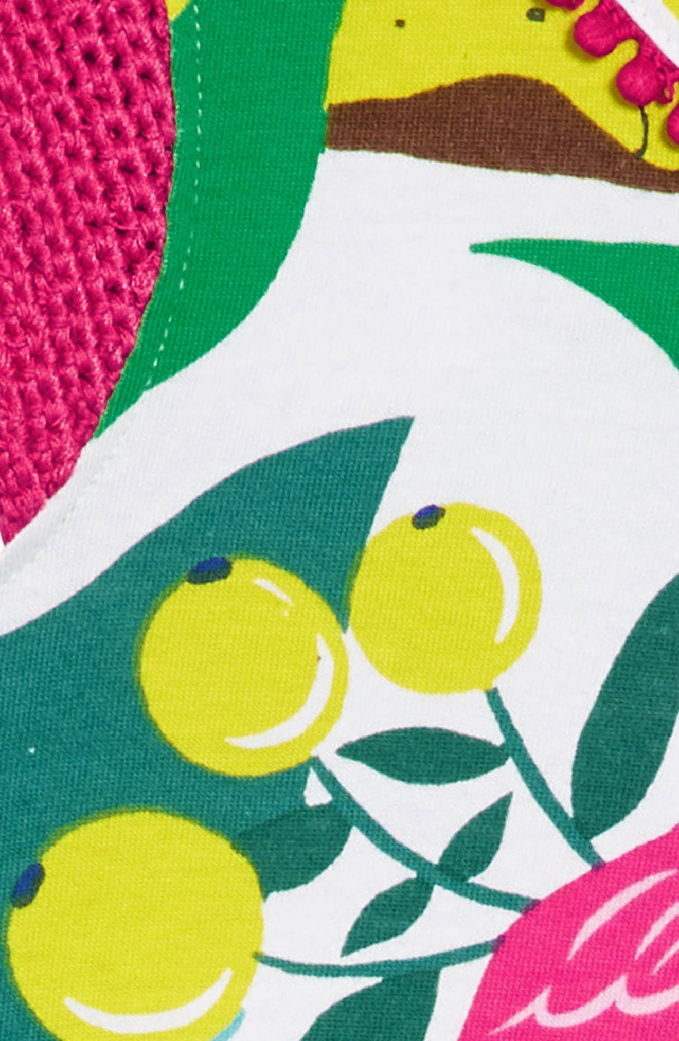 Crochet Sleeve Sundress,                             Alternate thumbnail 2, color,                             Ecru Jungle Jumble