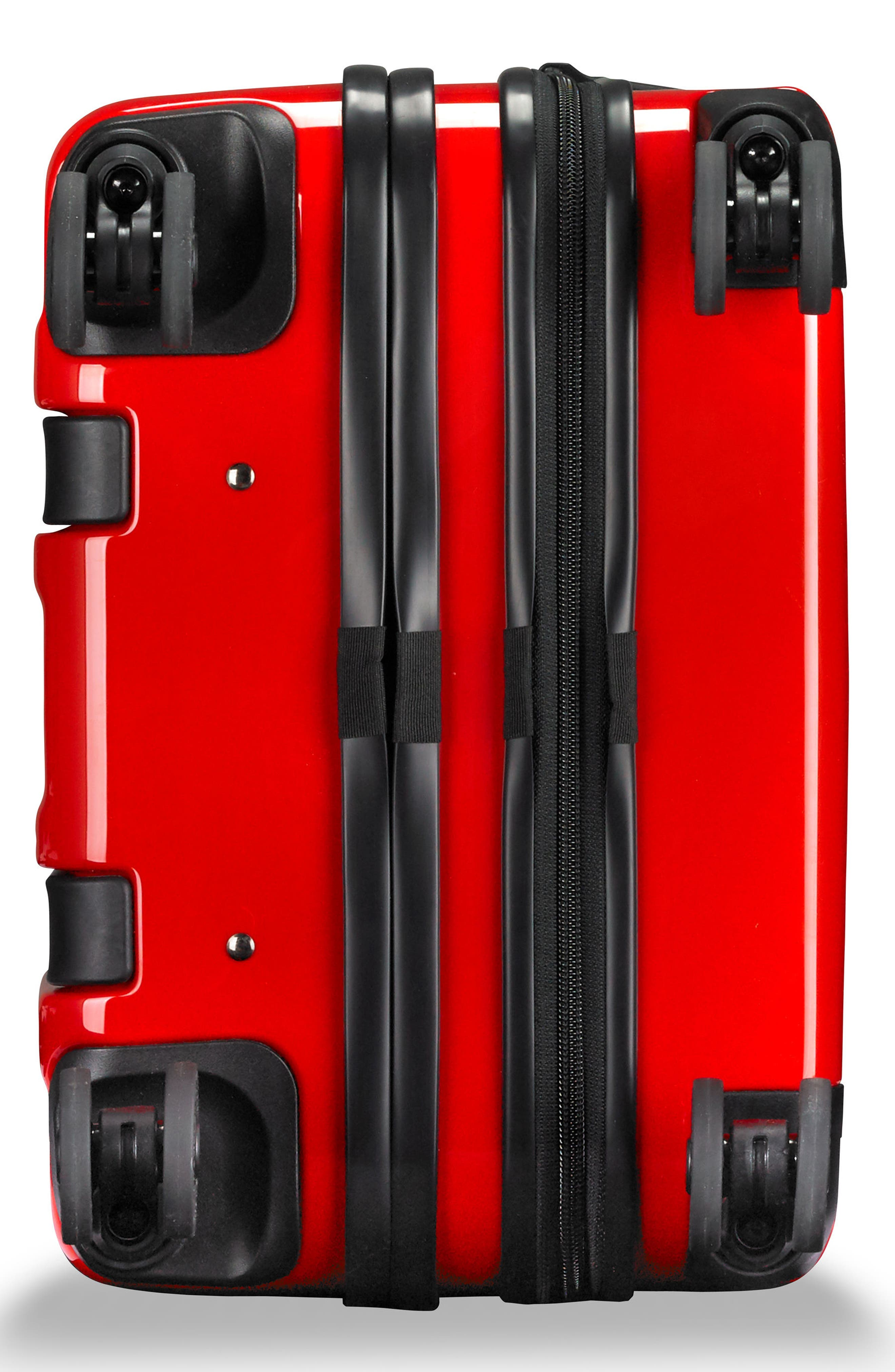 Domestic Expandable Spinner Wheeled Carry-On,                             Alternate thumbnail 6, color,                             Fire