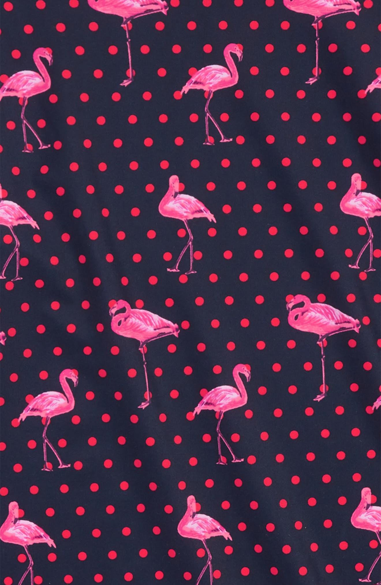 Flamingos Pring Rashguard Top,                             Alternate thumbnail 2, color,                             Navy Multi Ka2939