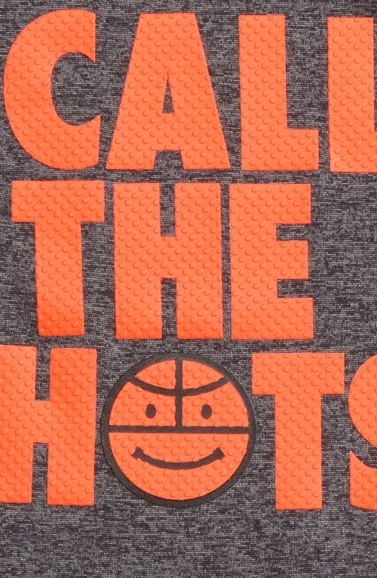 I Call the Shots Bodysuit & Mesh Shorts Set,                             Alternate thumbnail 2, color,                             Carbon Heather