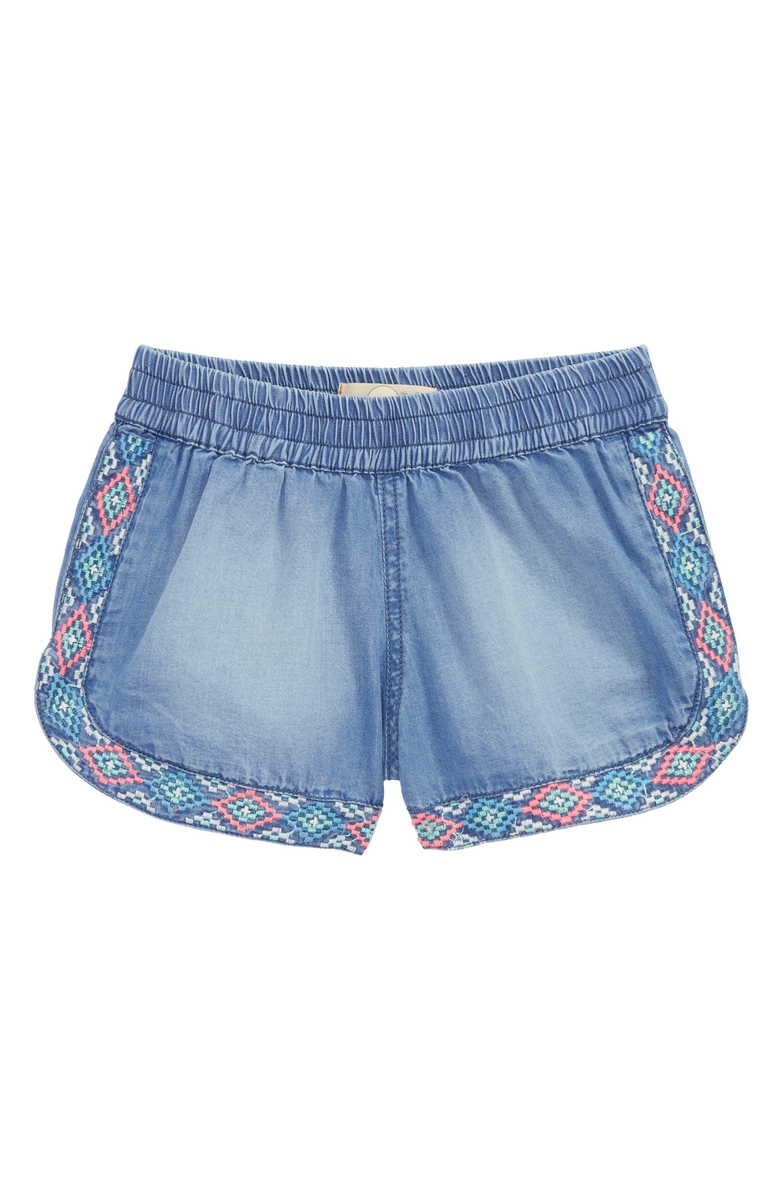 Peek Maria Chambray Shorts (Toddler Girls, Little Girls & Big Girls)