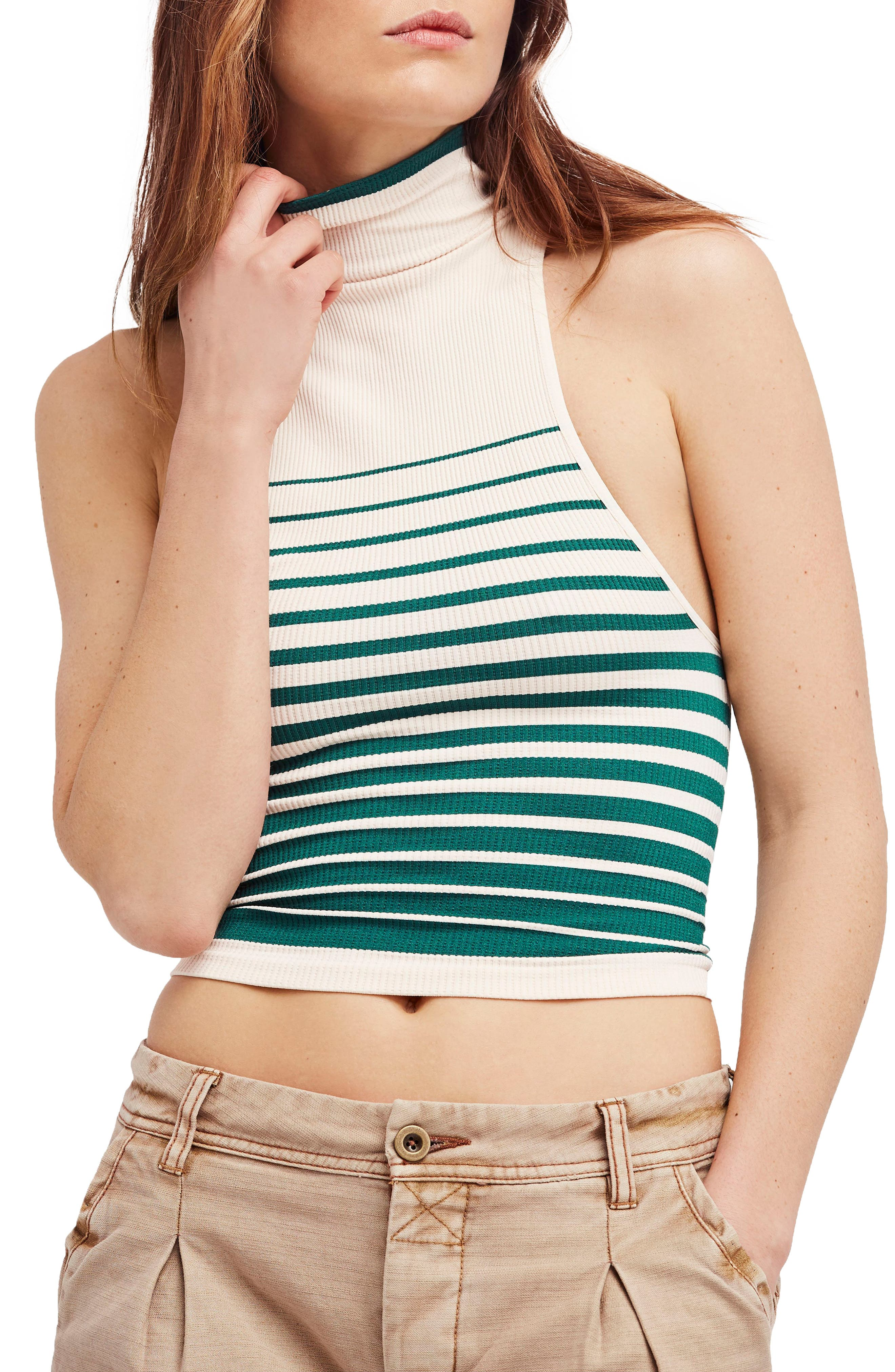 High Five Crop Tank,                         Main,                         color, Ivory