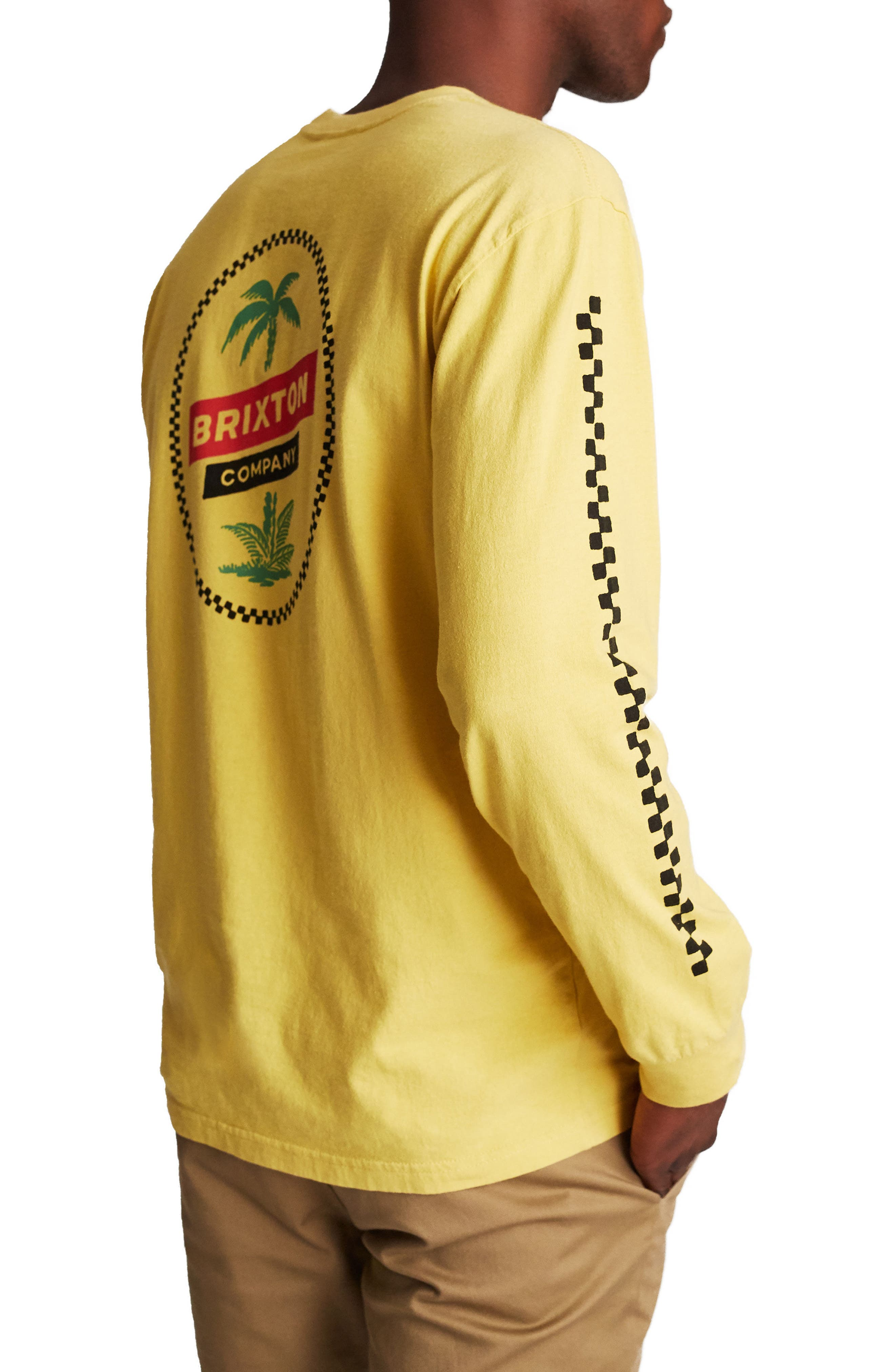 Tosh Long Sleeve T-Shirt,                             Alternate thumbnail 3, color,                             Washed Yellow