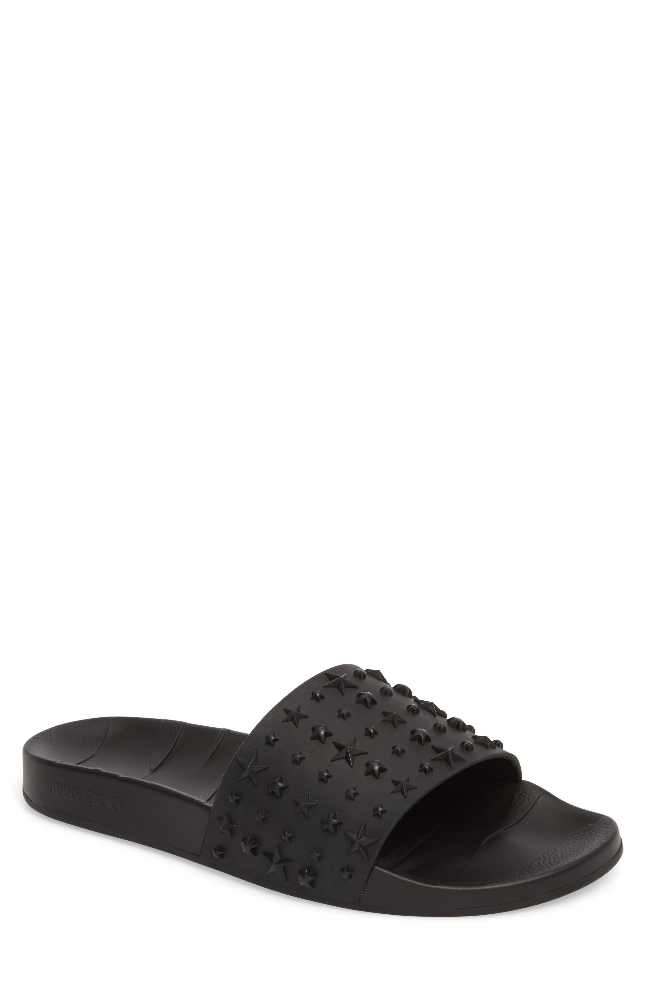 Jimmy choo Men's Rey Star Embossed Sport Slide 1YGMkTJ