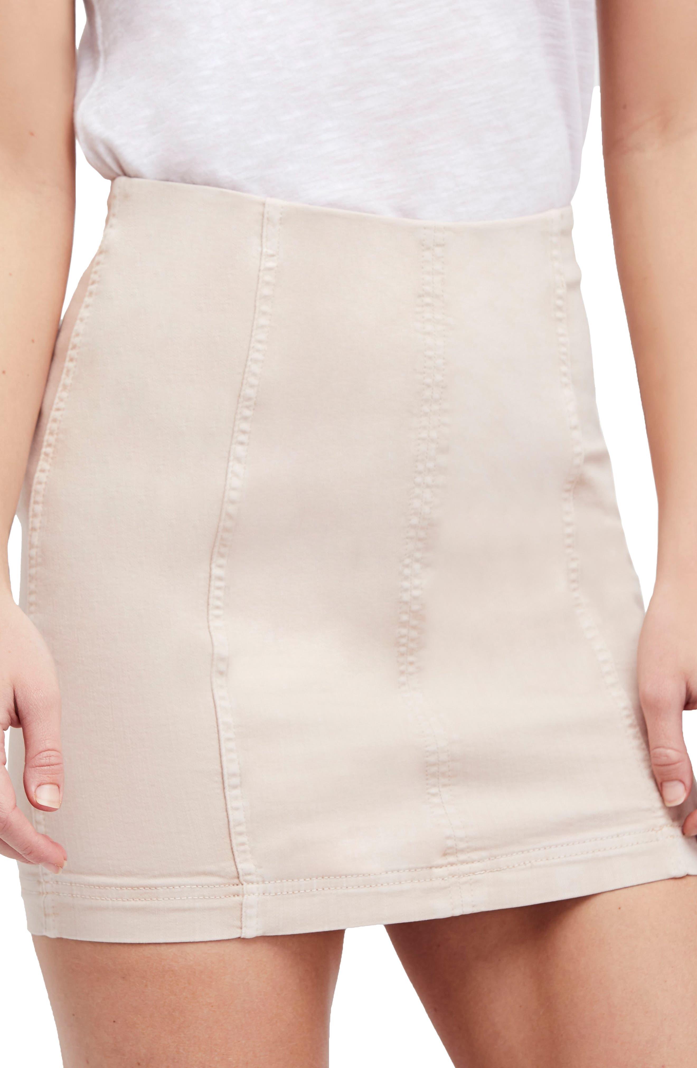 Modern Femme Miniskirt,                             Main thumbnail 1, color,                             Stone