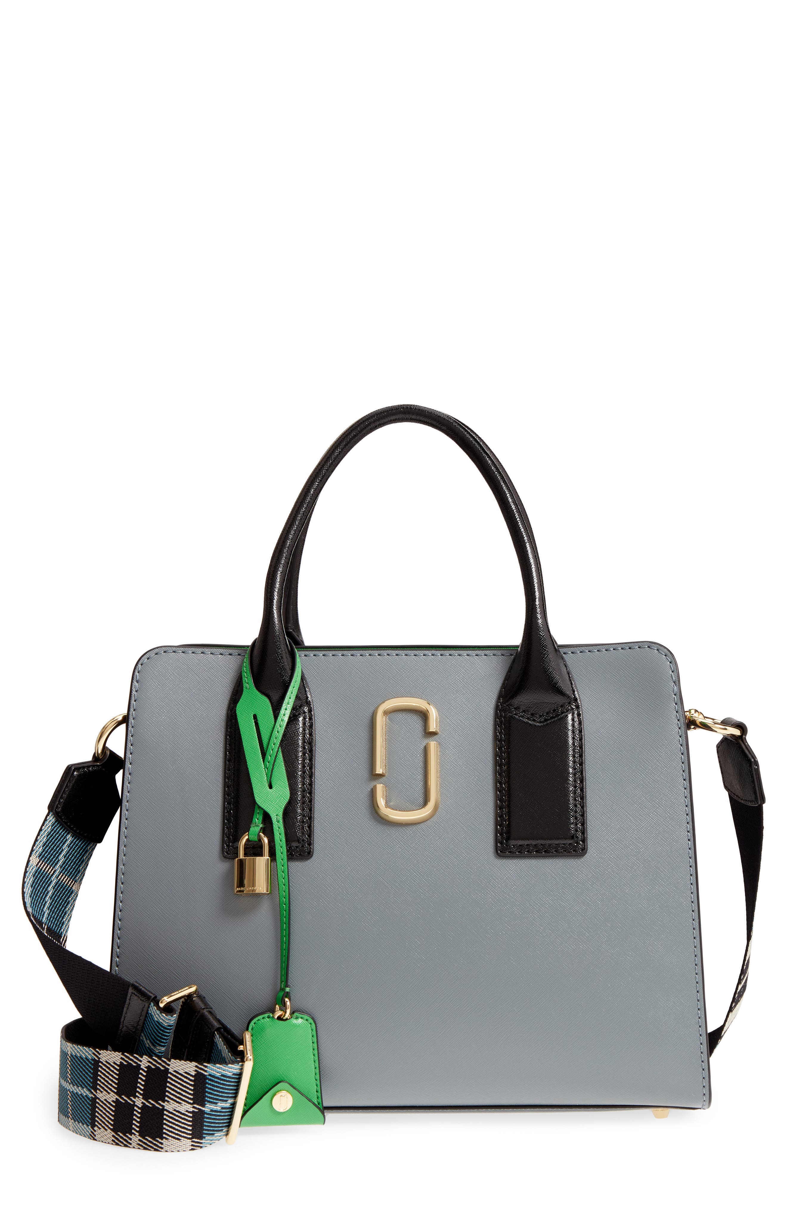 Big Shot Leather Tote,                         Main,                         color, Slate Multi