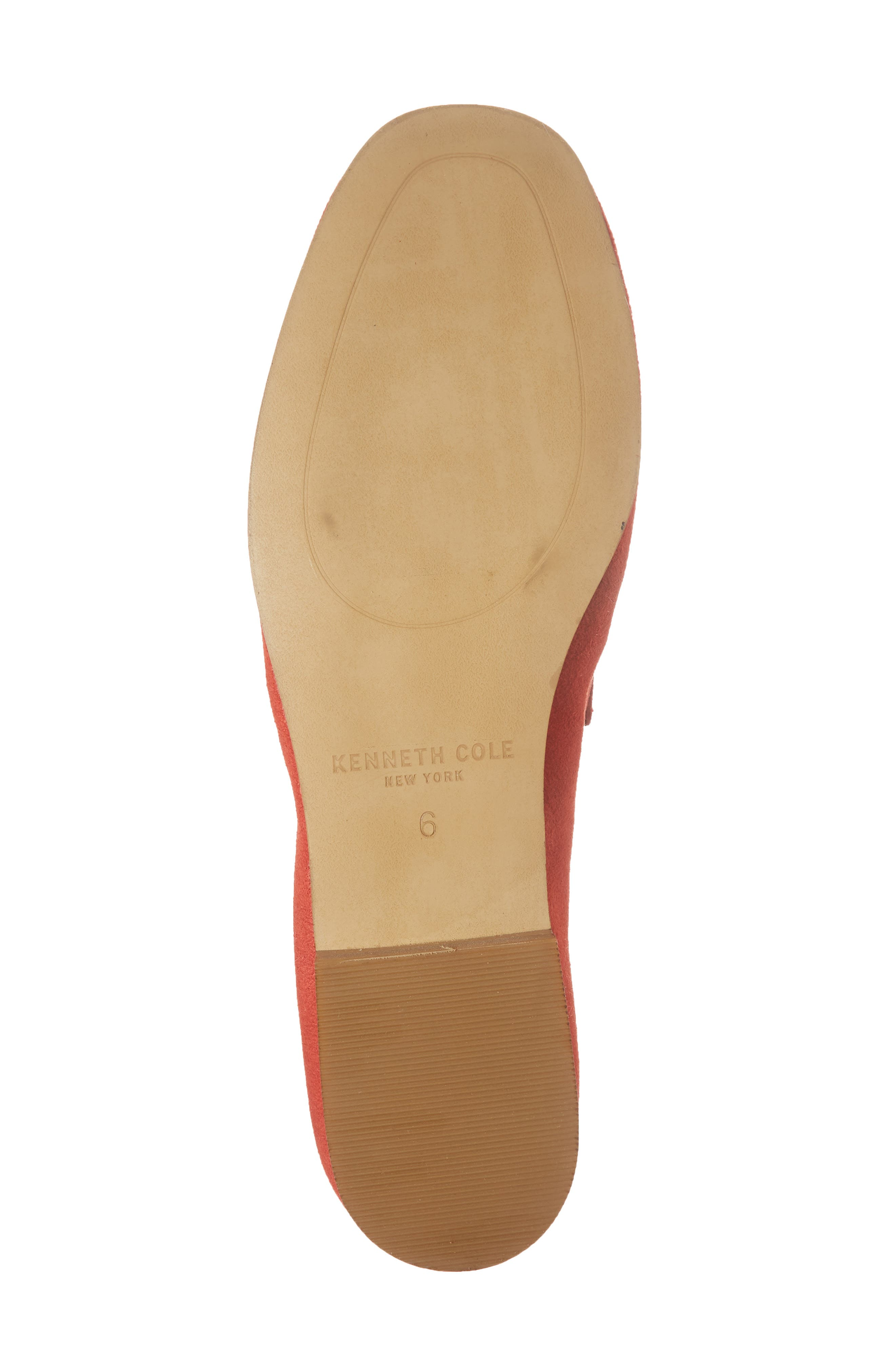 Dean Apron Toe Penny Loafer,                             Alternate thumbnail 6, color,                             Red Suede