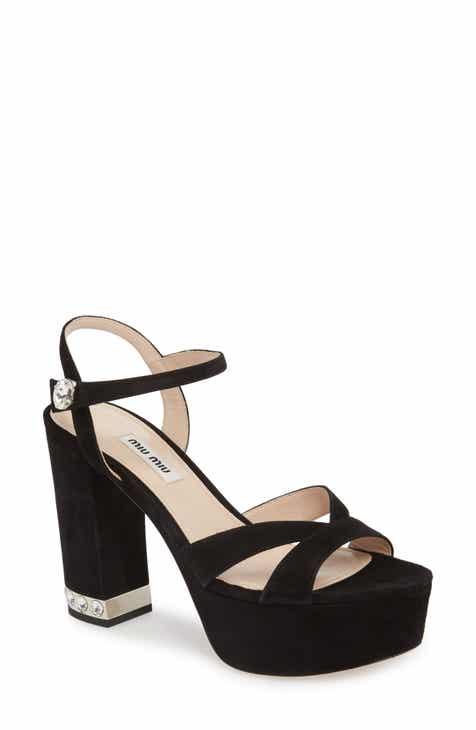8d737f9d6 Miu Miu Jeweled Heel Platform Sandal (Women)