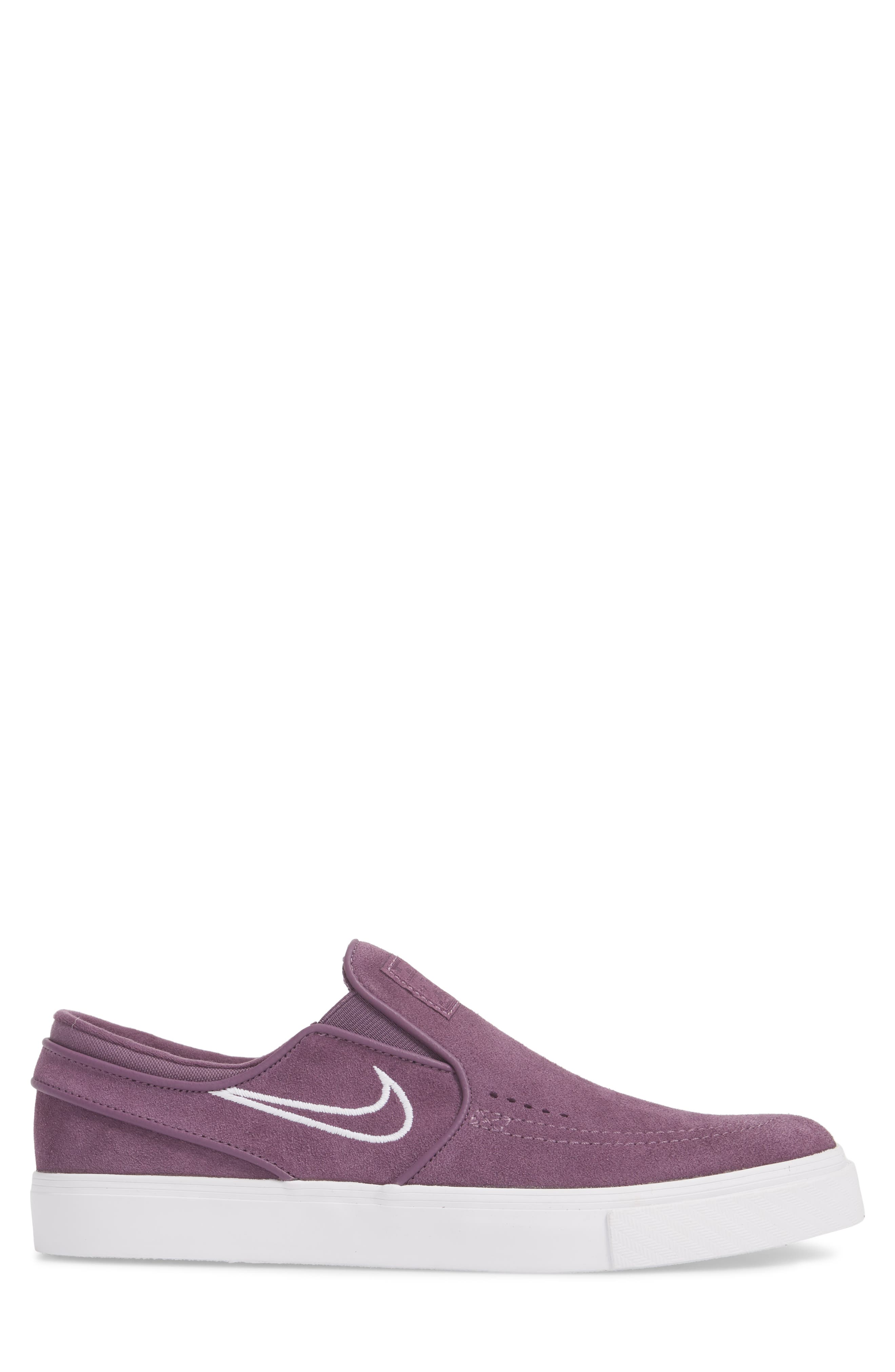Zoom Stefan Janoski Slip-On,                             Alternate thumbnail 3, color,                             Pro Purple/ White/ Grey