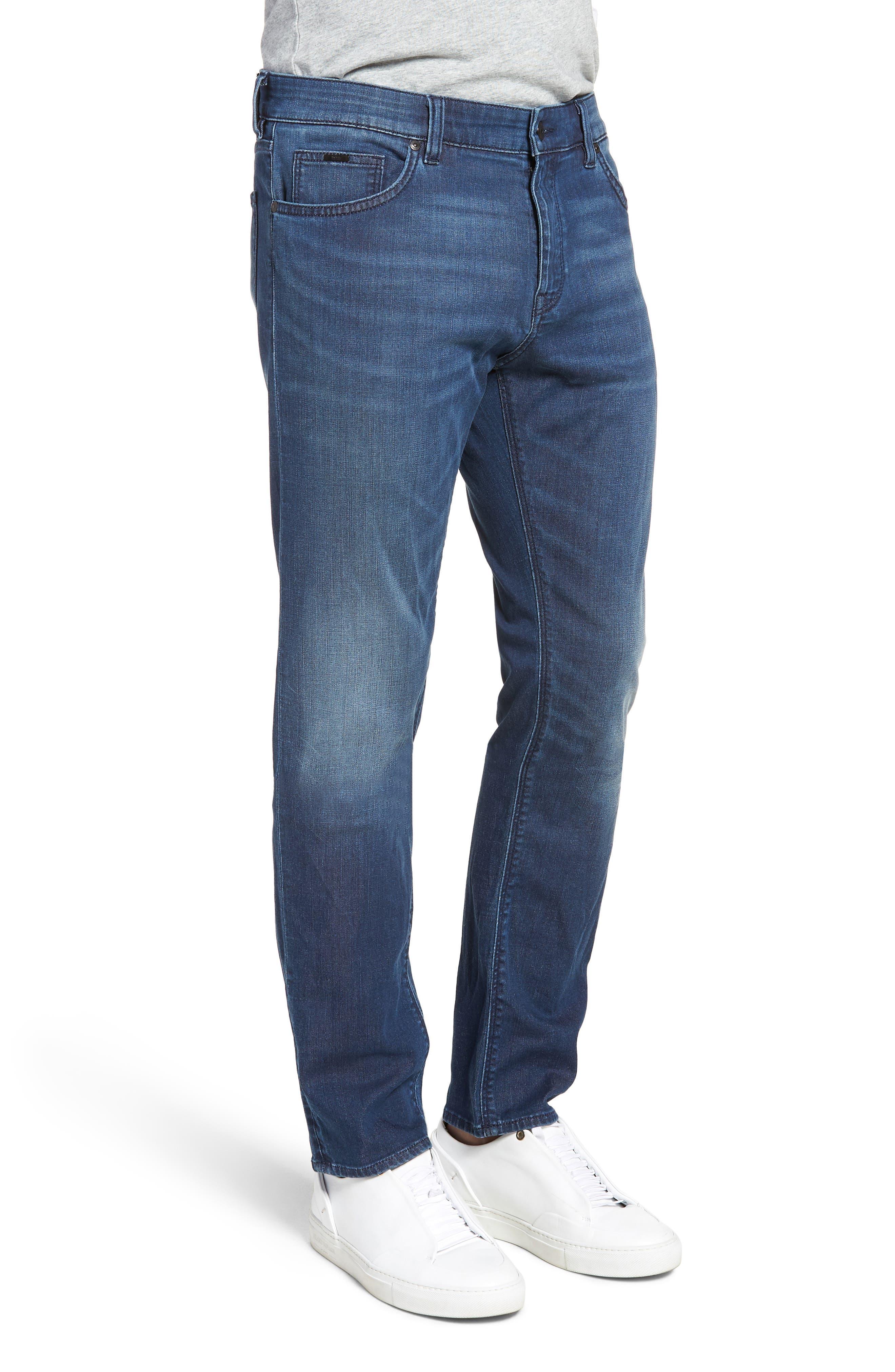Maine Straight Leg Jeans,                             Alternate thumbnail 3, color,                             Blue